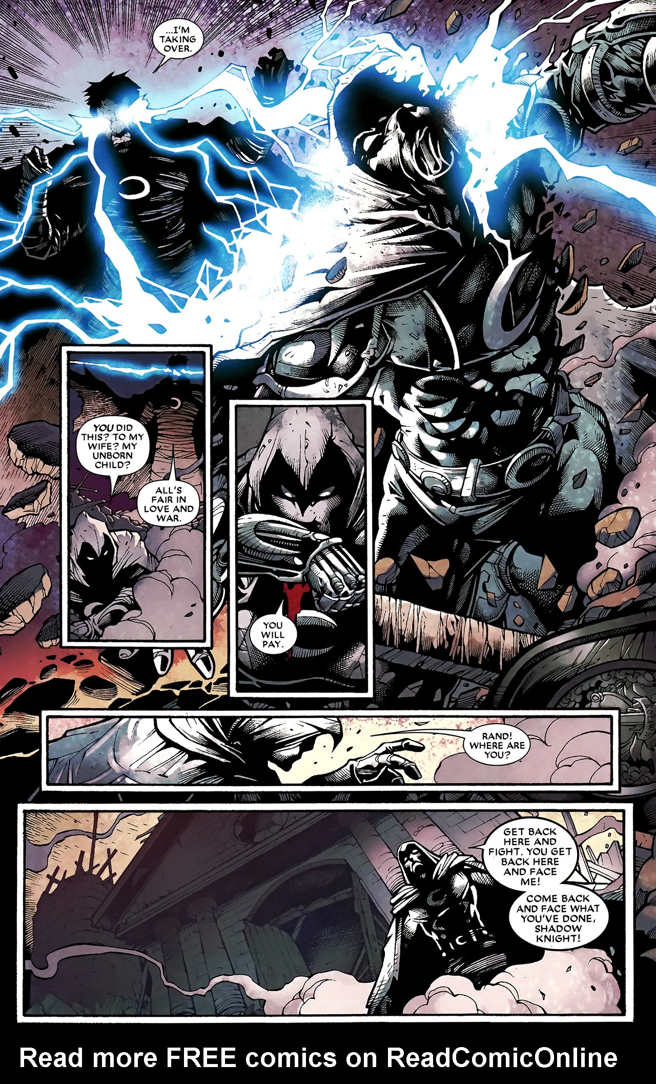 Read online Shadowland: Moon Knight comic -  Issue #3 - 4