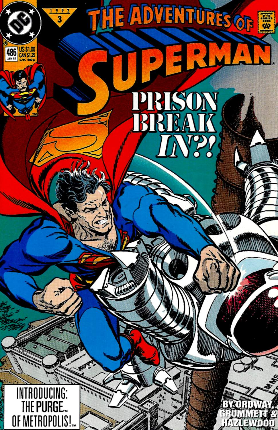 Read online Adventures of Superman (1987) comic -  Issue #486 - 1