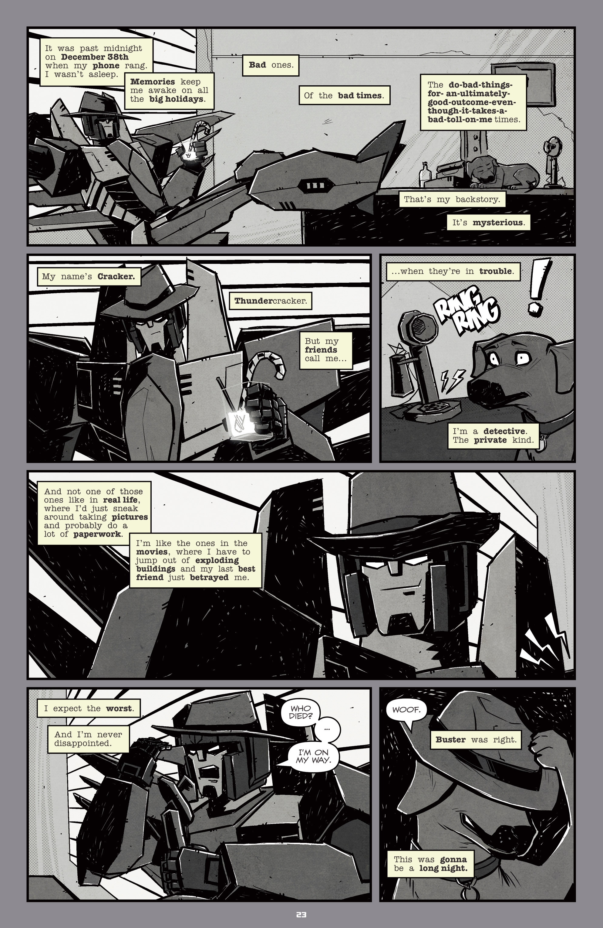 Read online Transformers: Holiday Special comic -  Issue # Full - 25