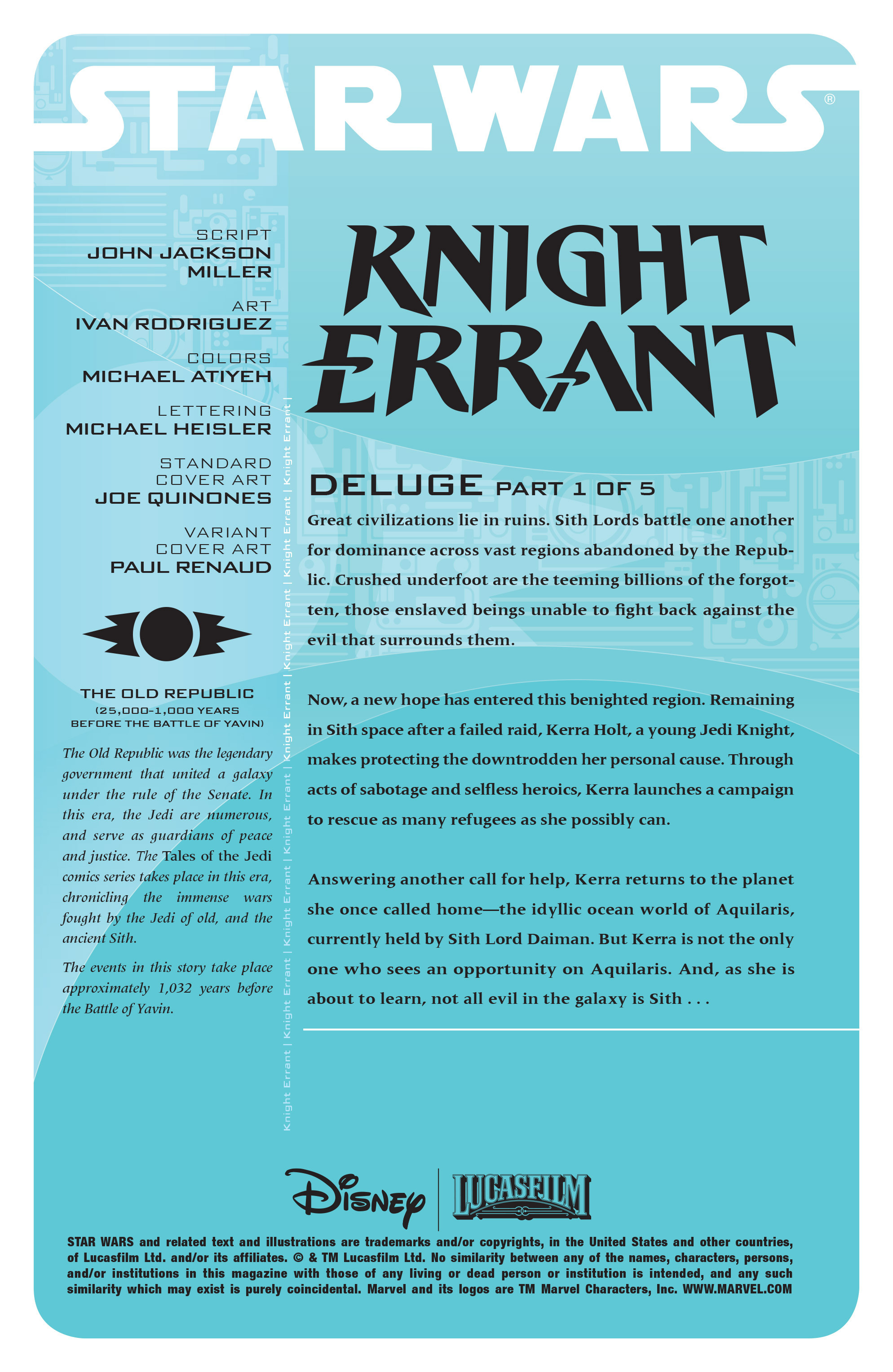Read online Star Wars: Knight Errant - Deluge comic -  Issue #1 - 2