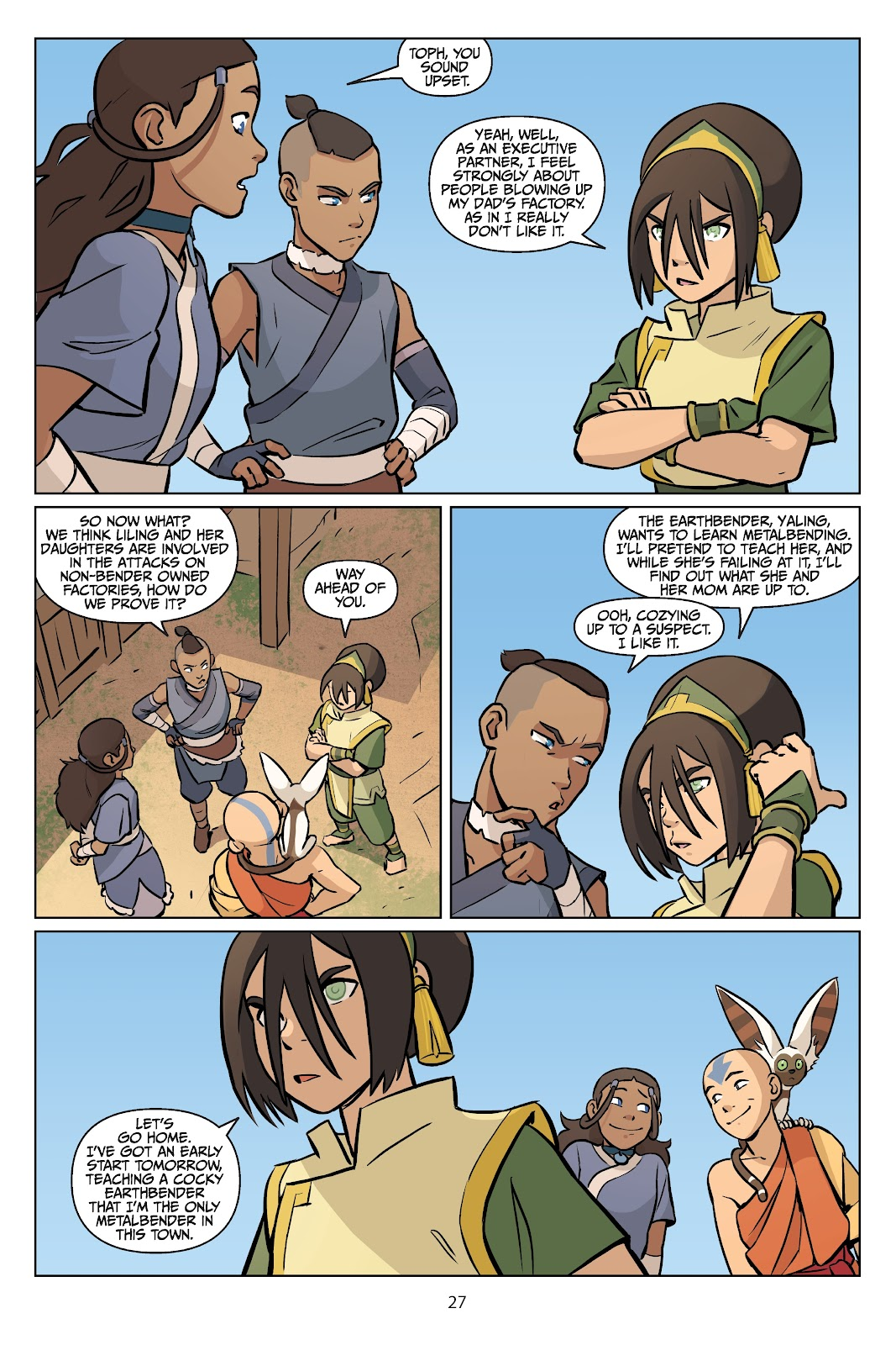 Read online Nickelodeon Avatar: The Last Airbender - Imbalance comic -  Issue # TPB 2 - 28