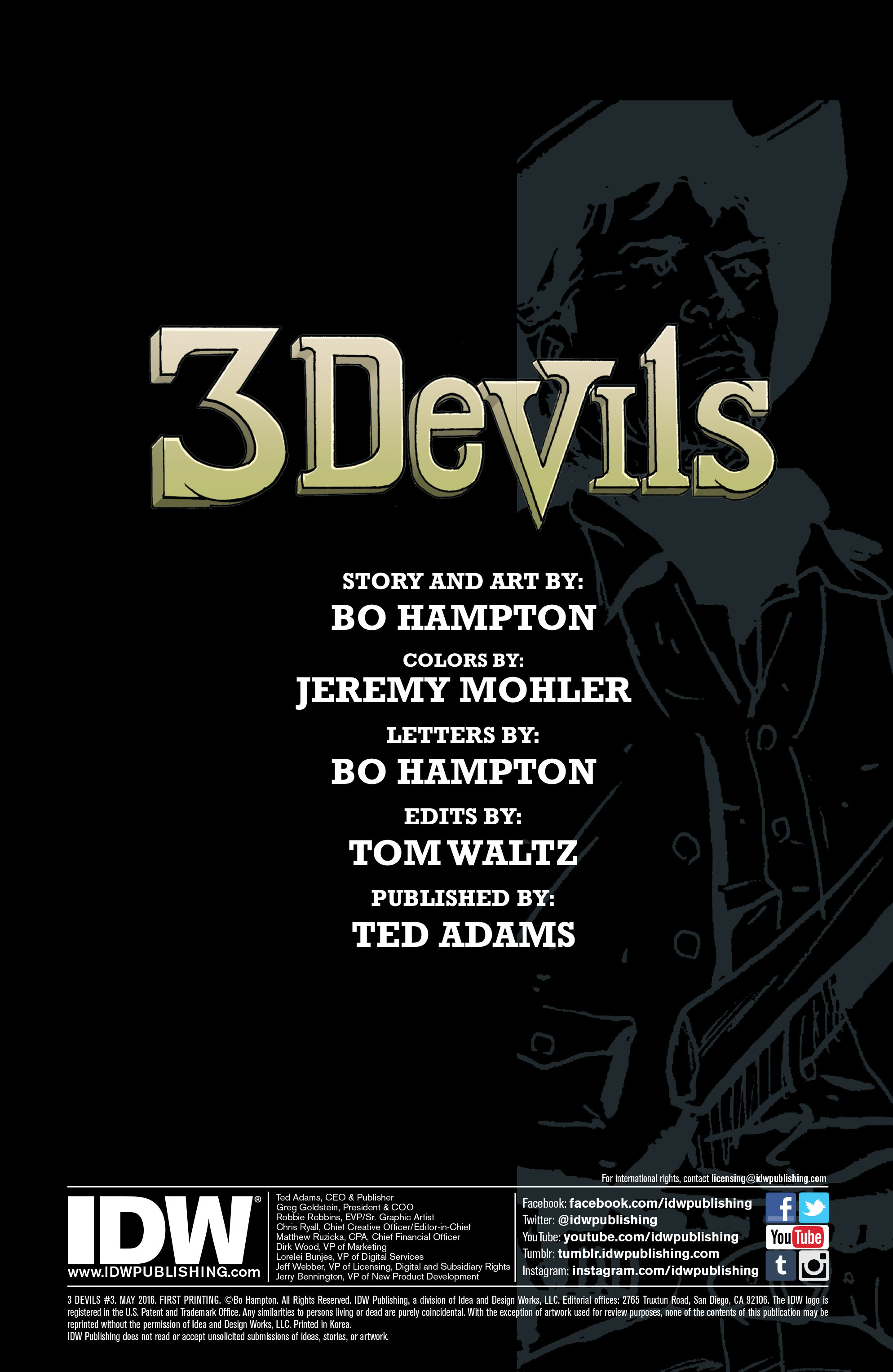 Read online 3 Devils comic -  Issue #3 - 2