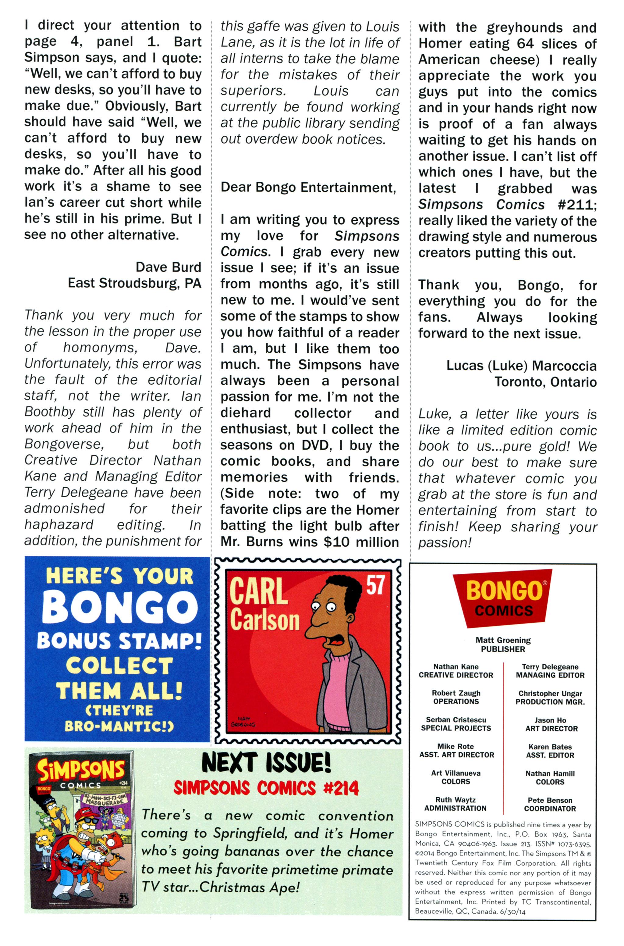 Read online Simpsons Comics comic -  Issue #213 - 29