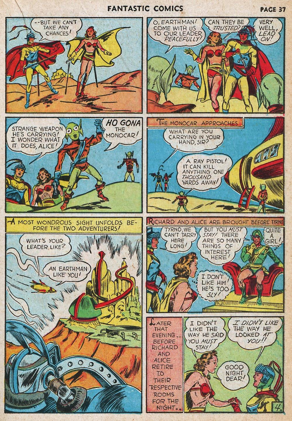 Read online Fantastic Comics comic -  Issue #20 - 37