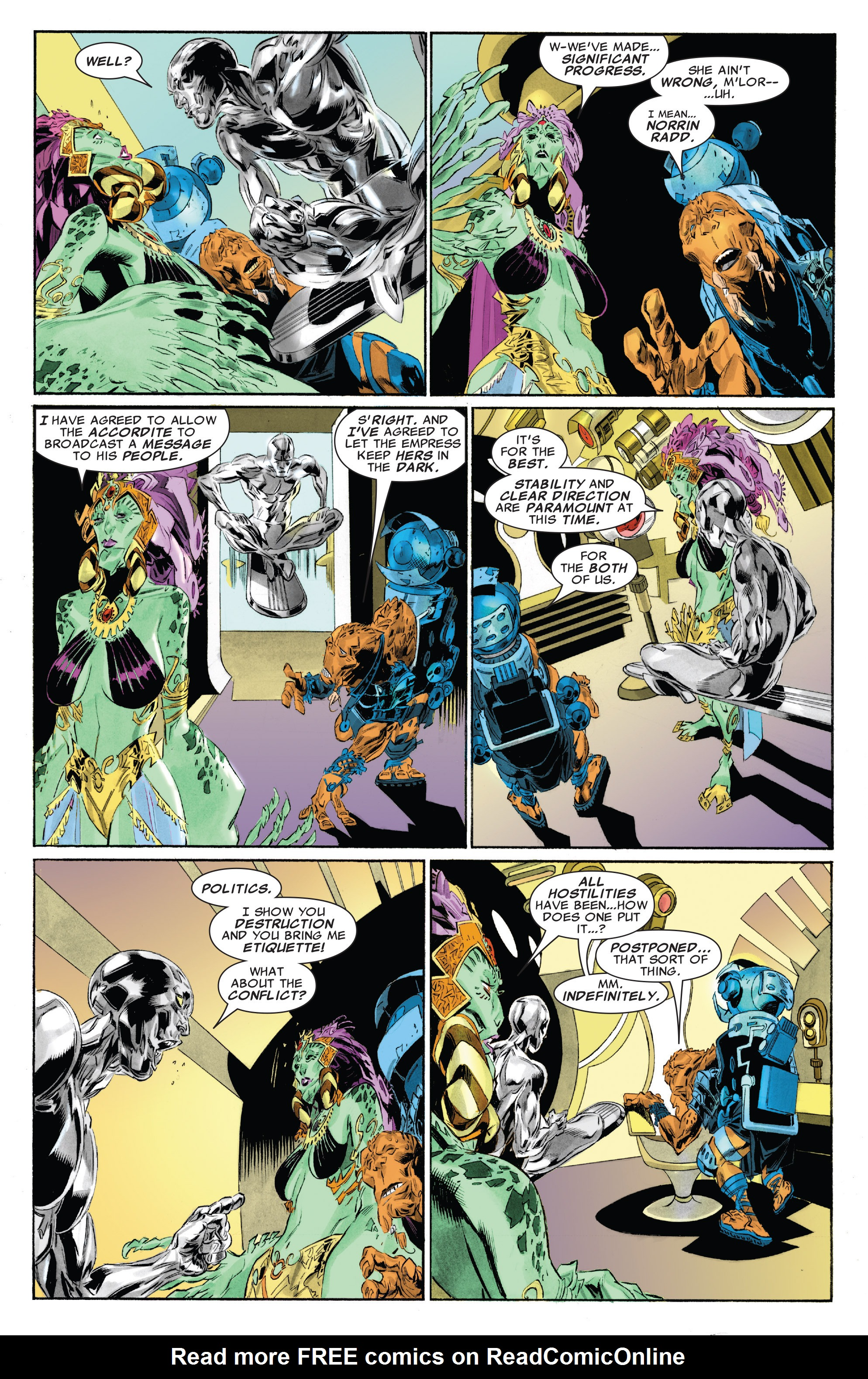 Read online Silver Surfer: In Thy Name comic -  Issue #4 - 7