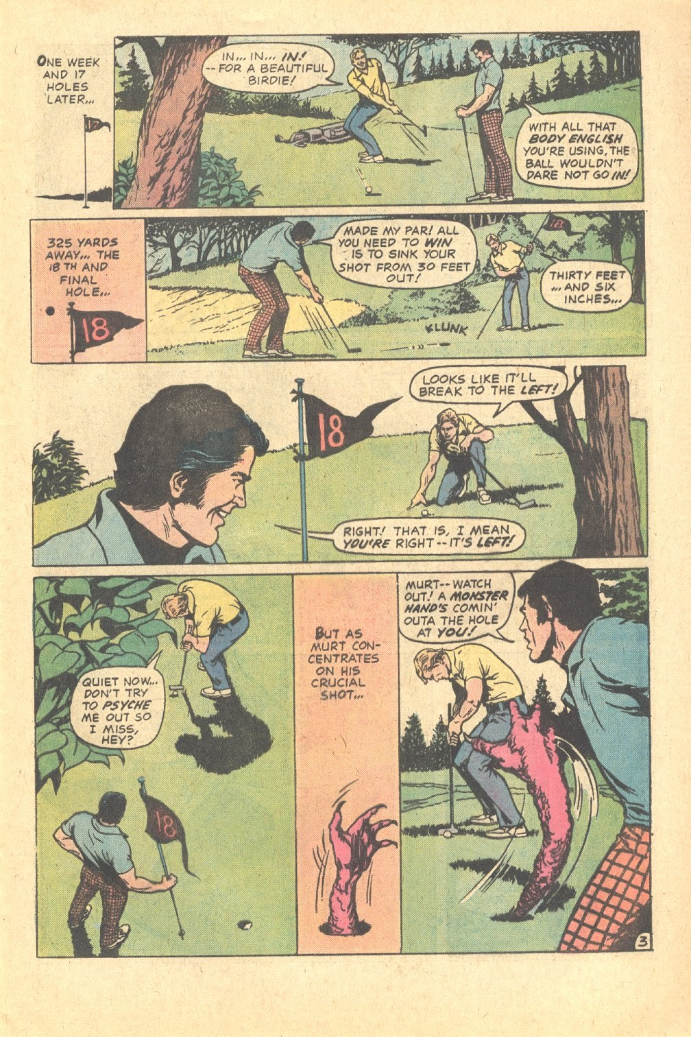 Read online Strange Sports Stories (1973) comic -  Issue #6 - 4