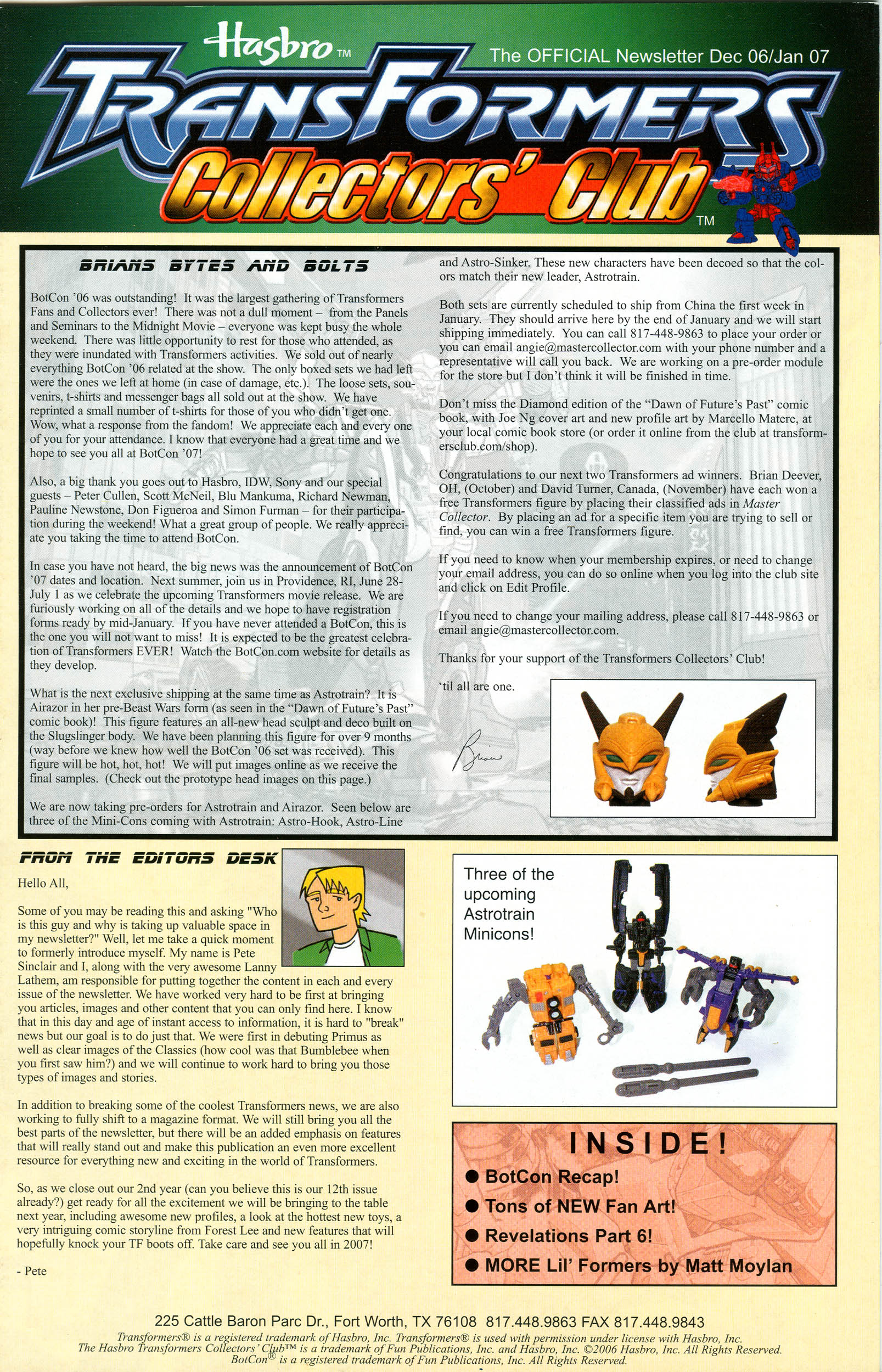 Read online Transformers: Collectors' Club comic -  Issue #12 - 1