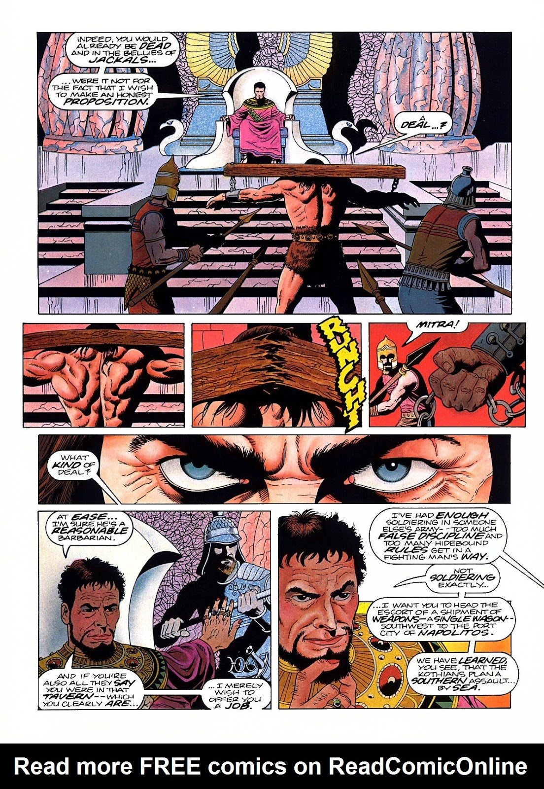 Read online Marvel Graphic Novel: Conan the Barbarian: The Skull of Set comic -  Issue # Full - 8