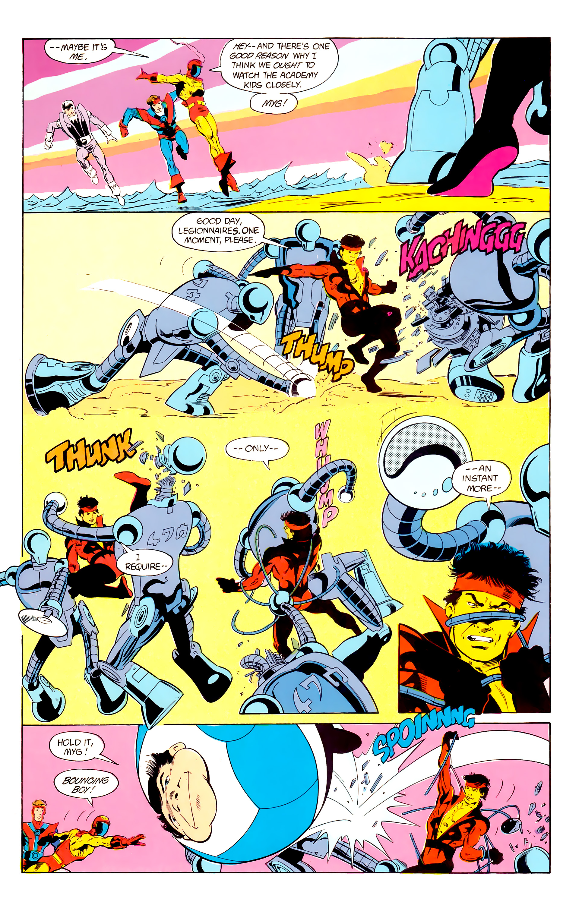 Legion of Super-Heroes (1984) 24 Page 5