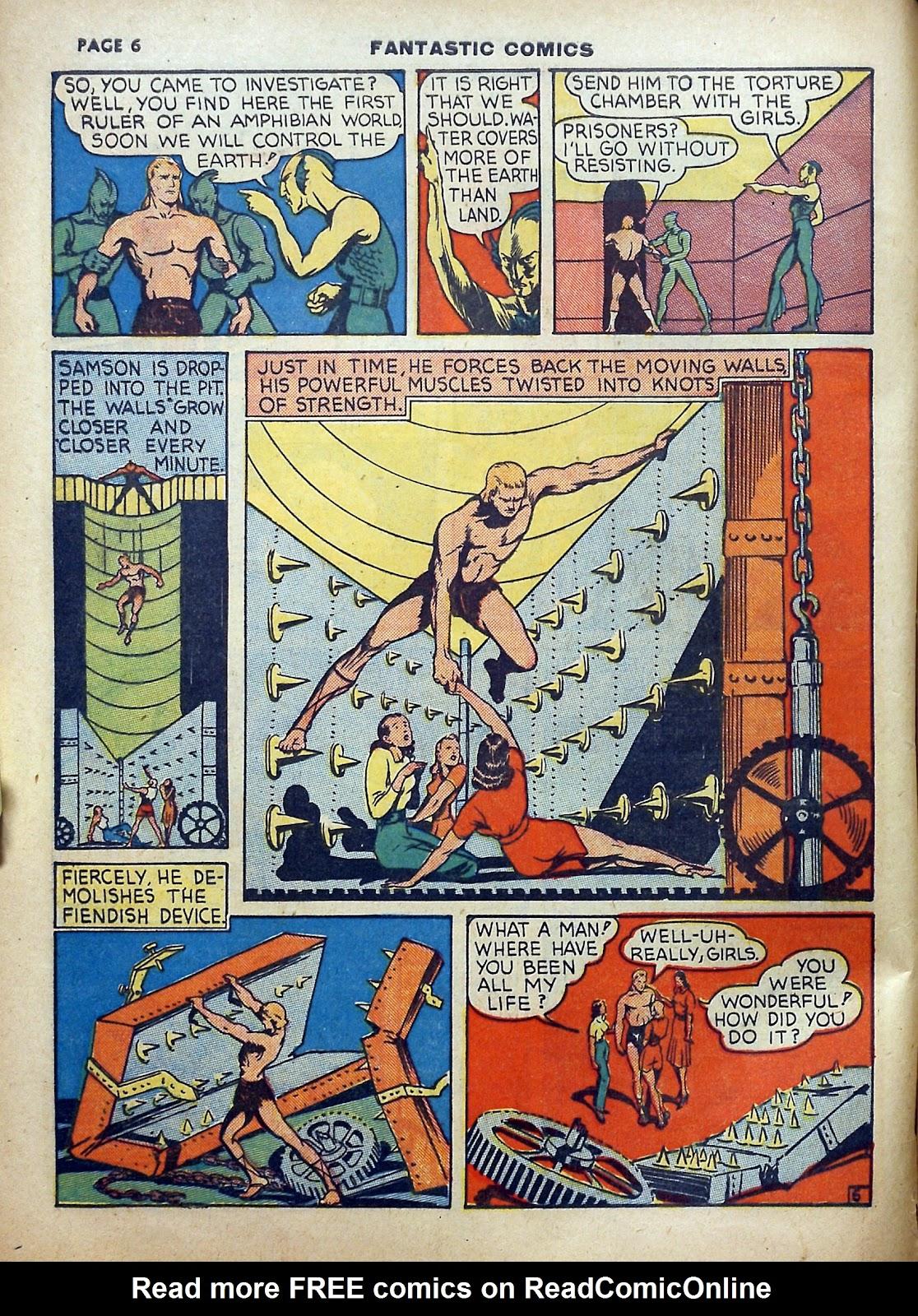Read online Fantastic Comics comic -  Issue #5 - 7