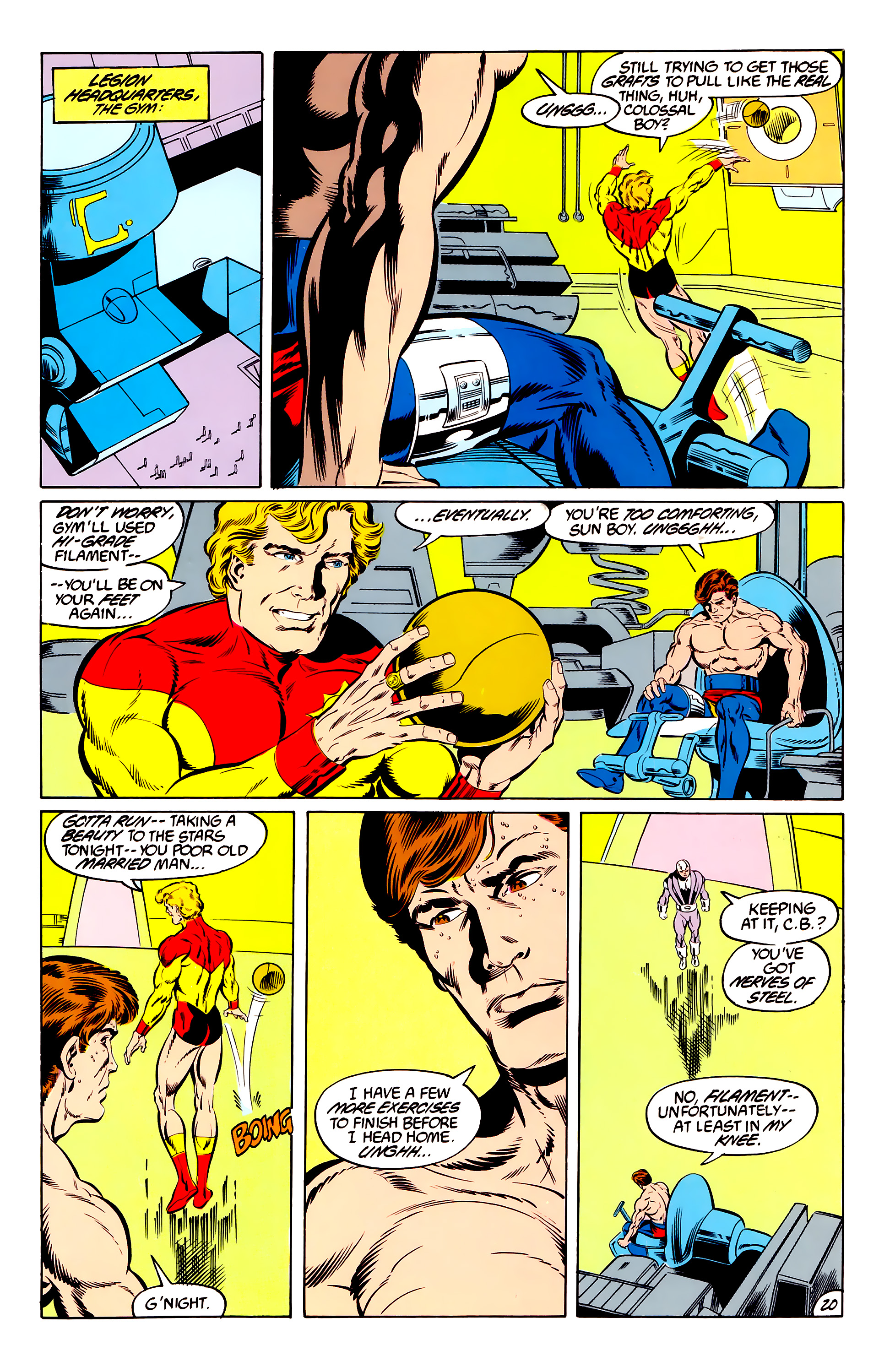 Legion of Super-Heroes (1984) 46 Page 20