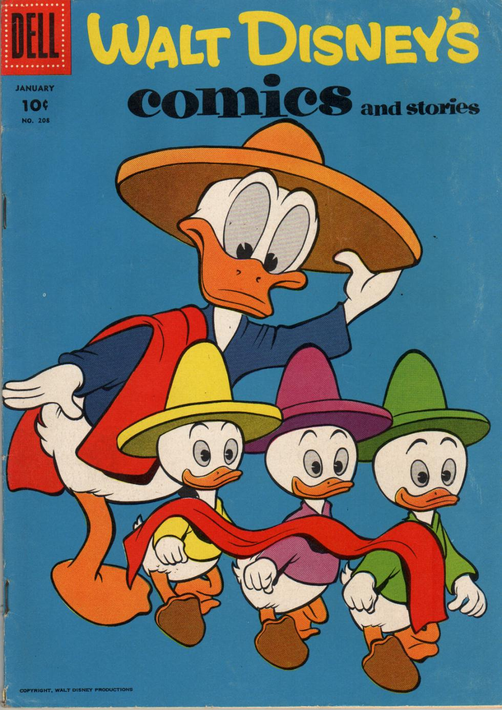 Walt Disneys Comics and Stories 208 Page 1
