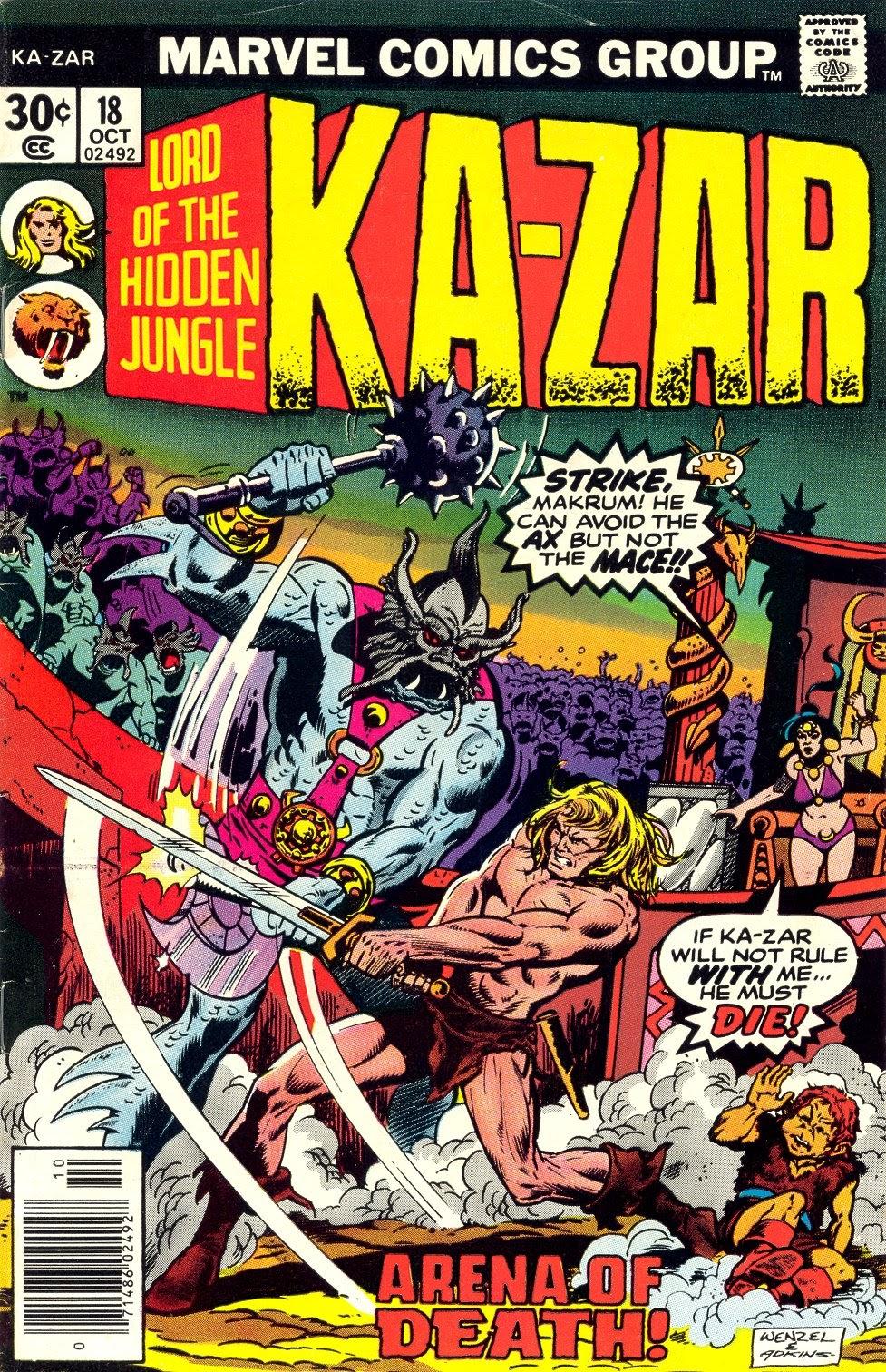 Ka-Zar (1974) issue 18 - Page 1