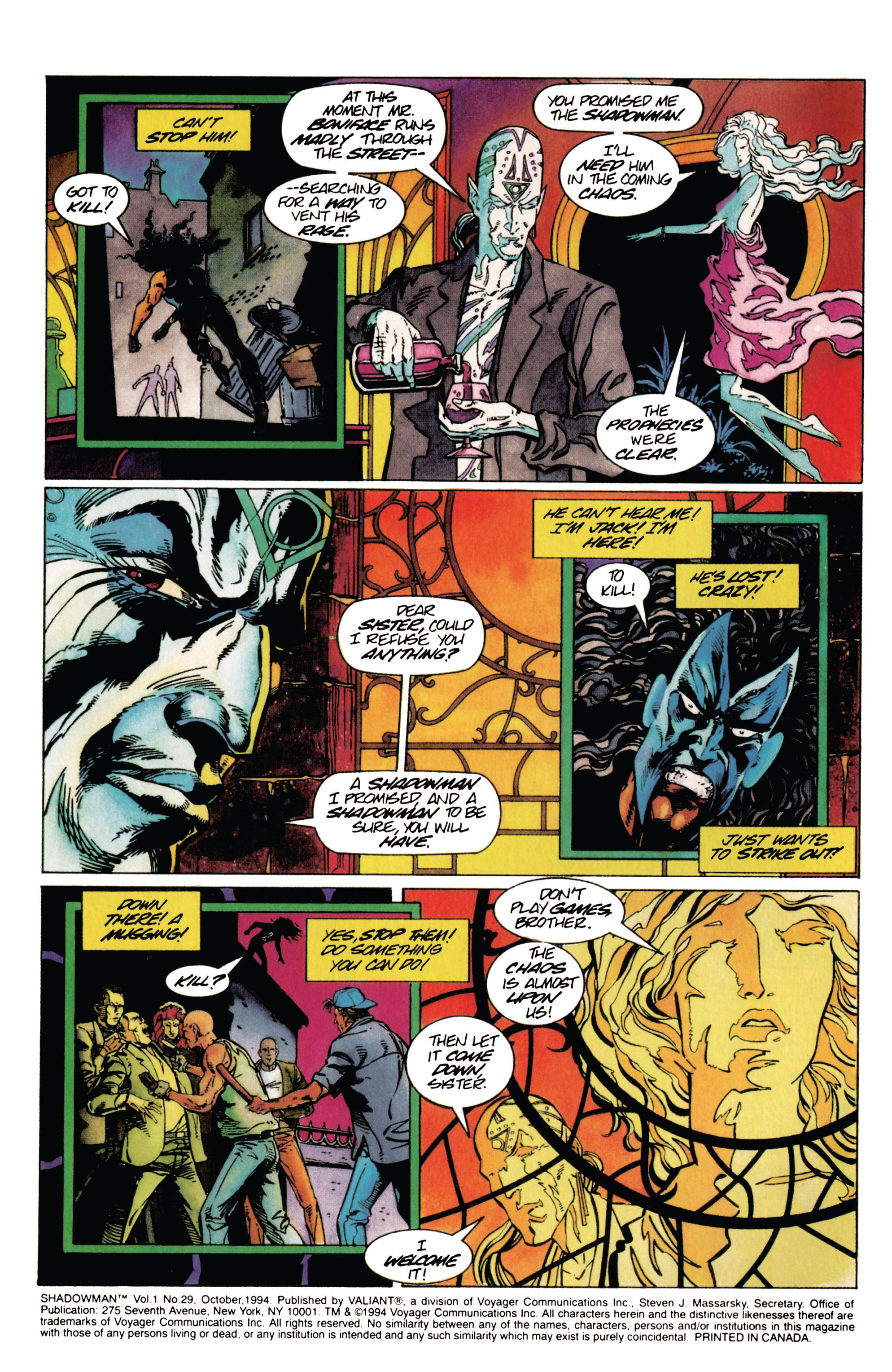 Read online Shadowman (1992) comic -  Issue #29 - 3