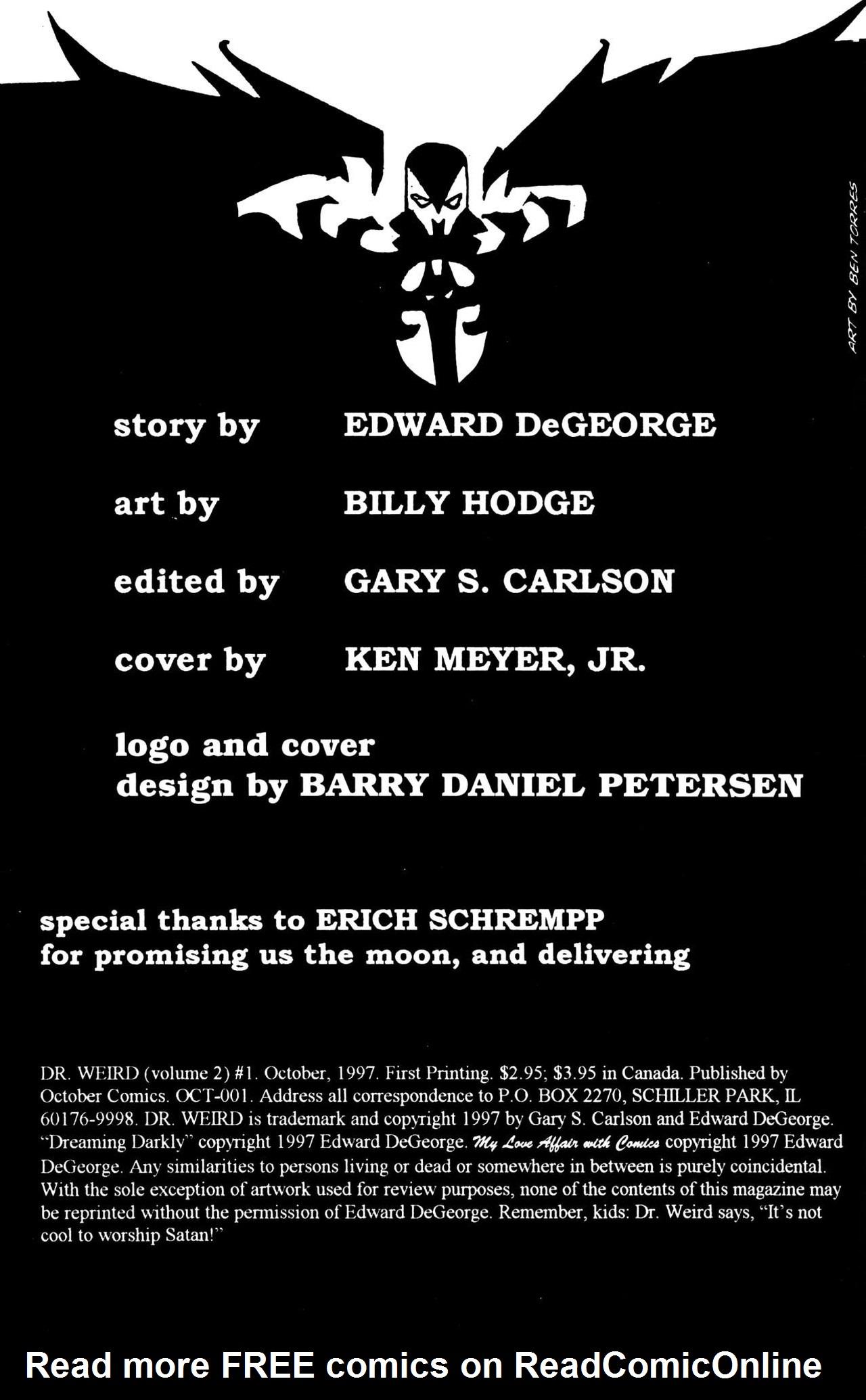 Read online Dr. Weird (1997) comic -  Issue #1 - 2