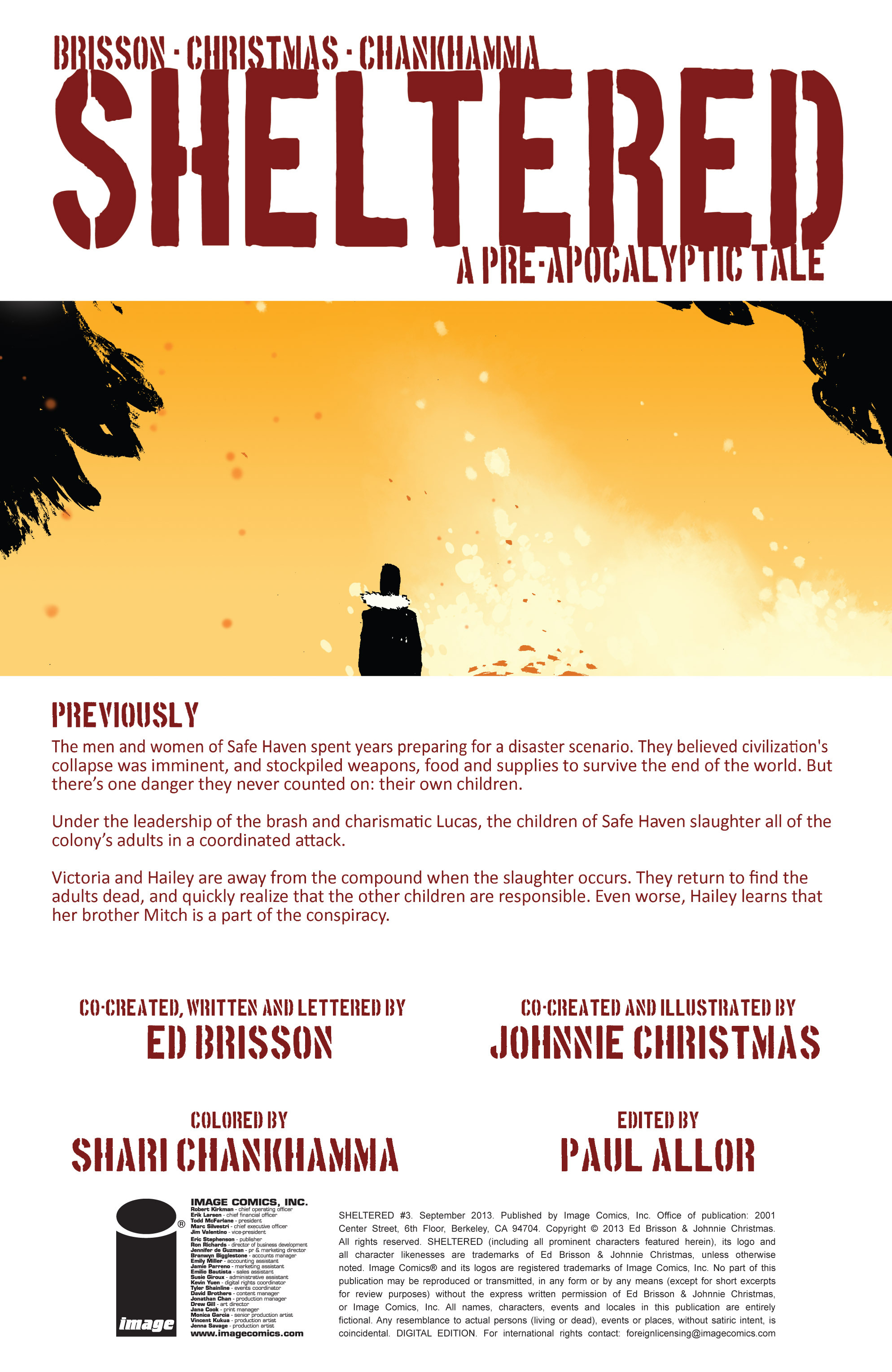 Read online Sheltered comic -  Issue #3 - 2