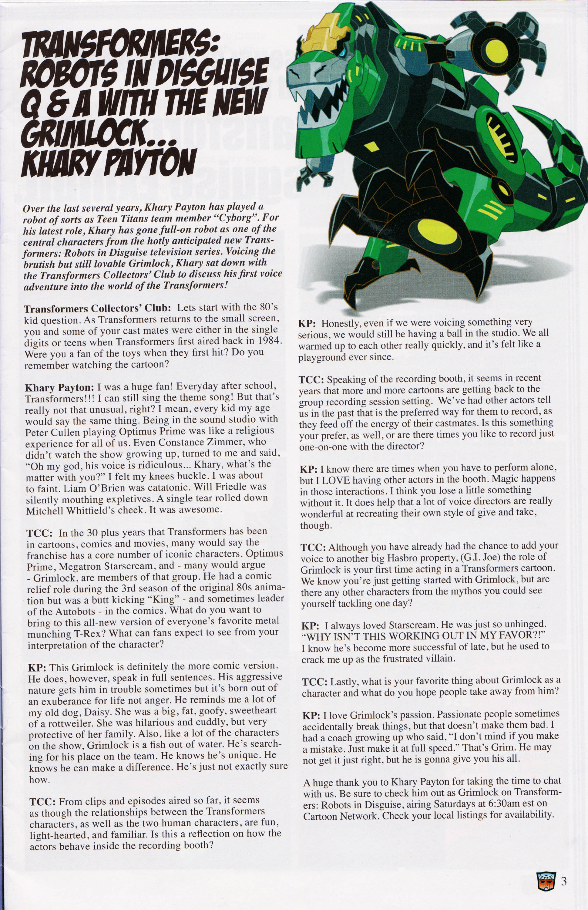 Read online Transformers: Collectors' Club comic -  Issue #62 - 3