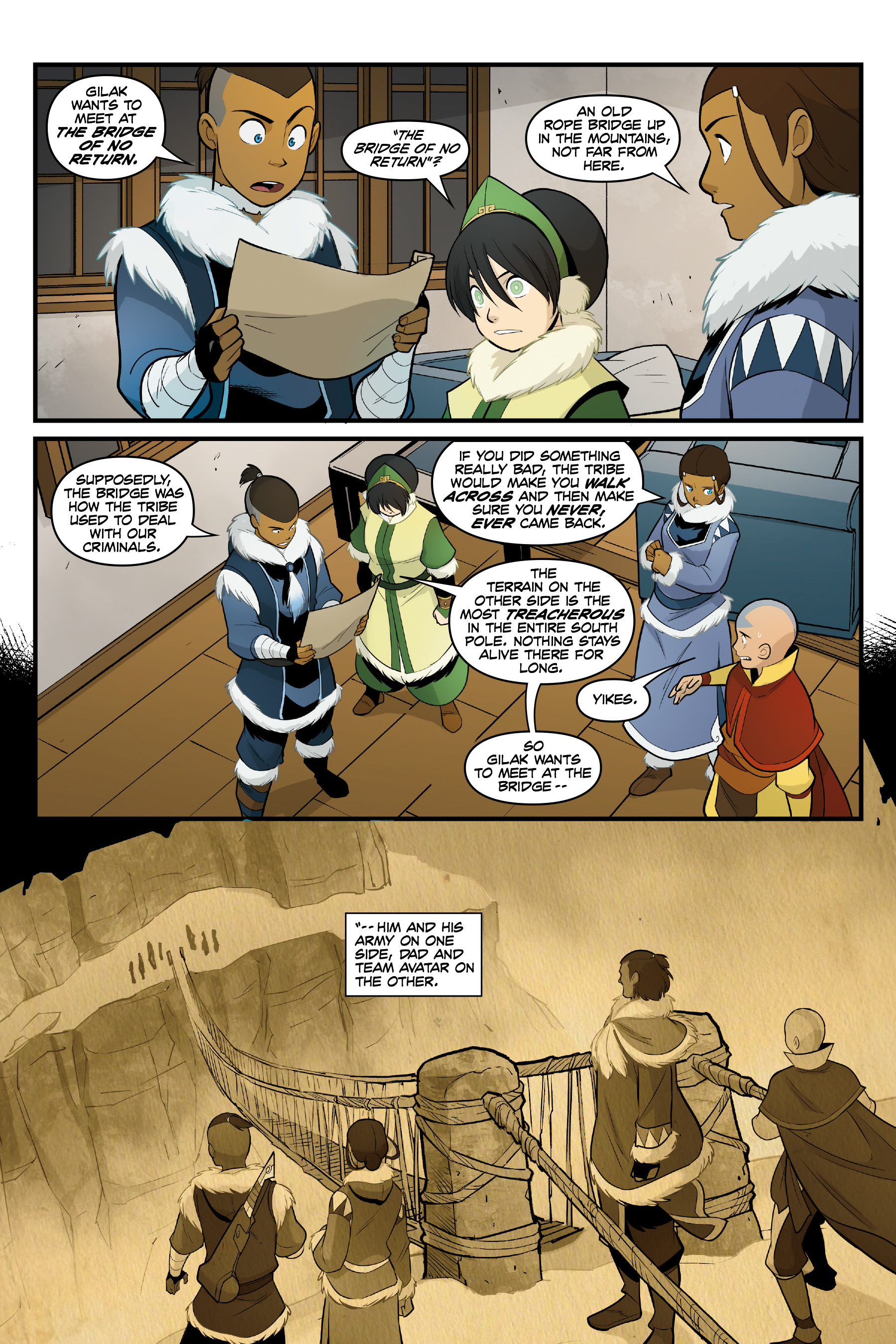 Read online Nickelodeon Avatar: The Last Airbender - North and South comic -  Issue #3 - 43