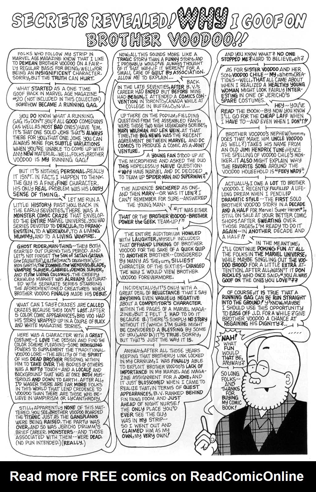 Fred Hembeck Sells the Marvel Universe issue Full - Page 20