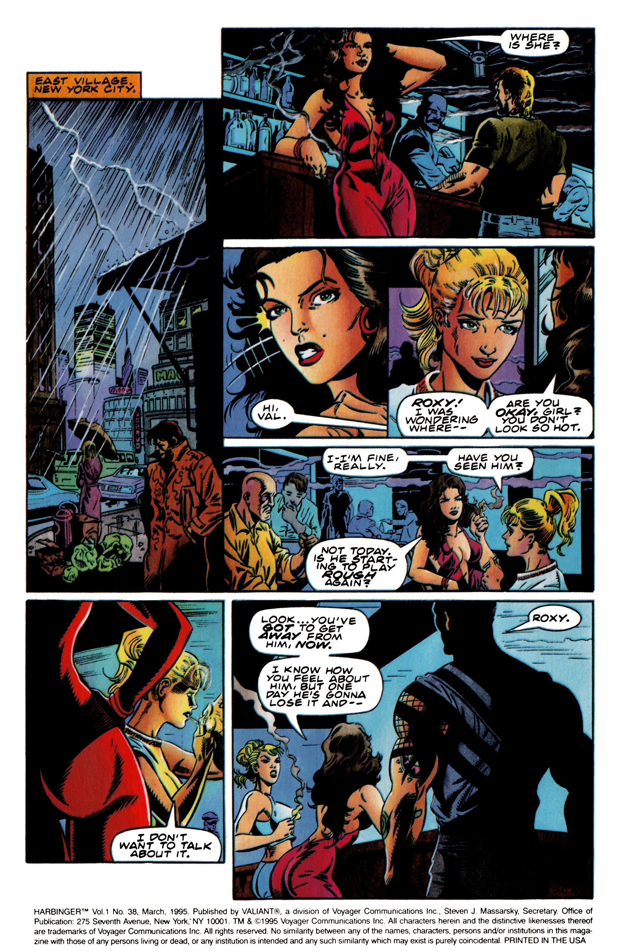 Read online Harbinger (1992) comic -  Issue #38 - 3