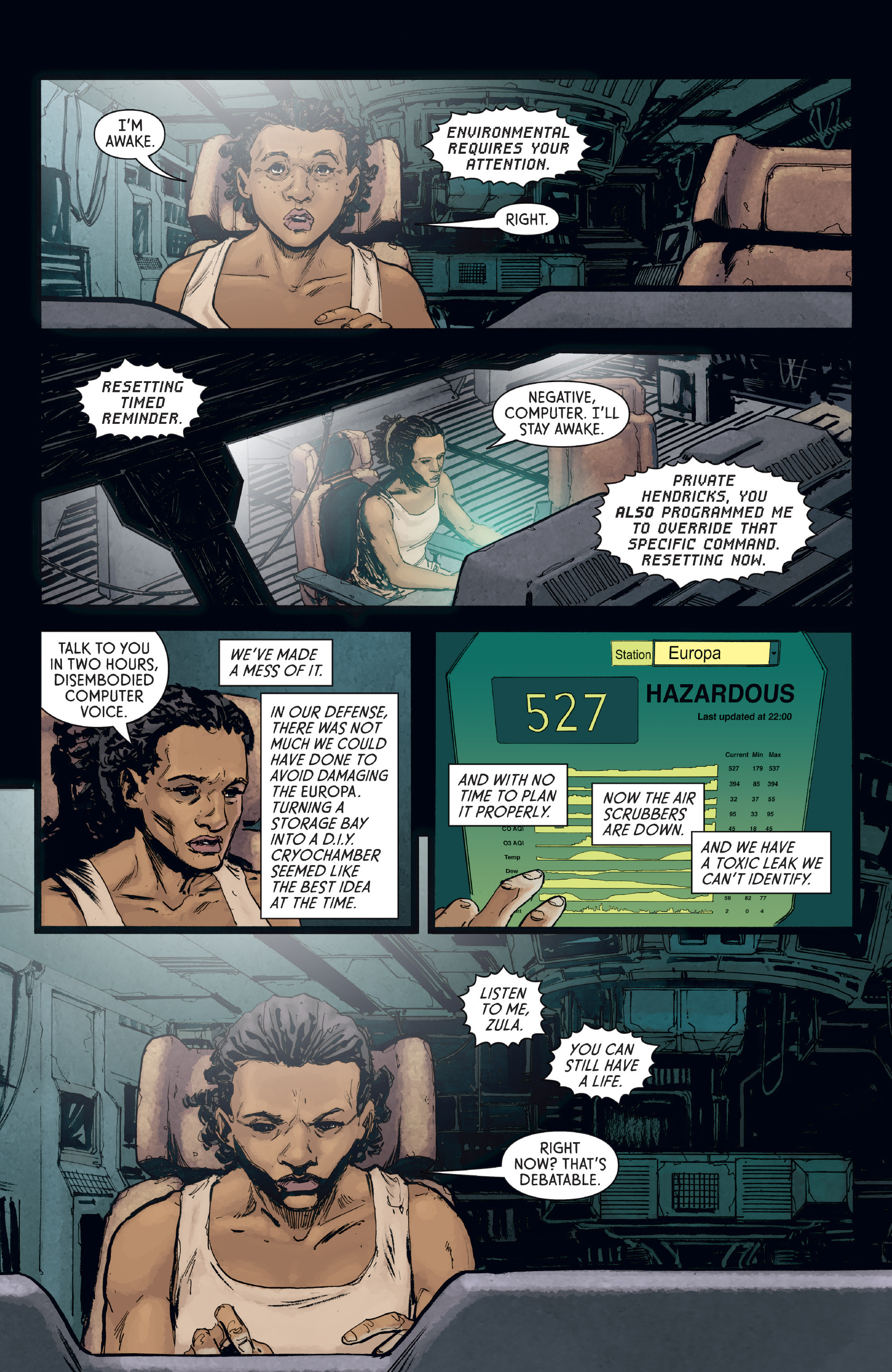 Read online Aliens: Defiance comic -  Issue #8 - 4