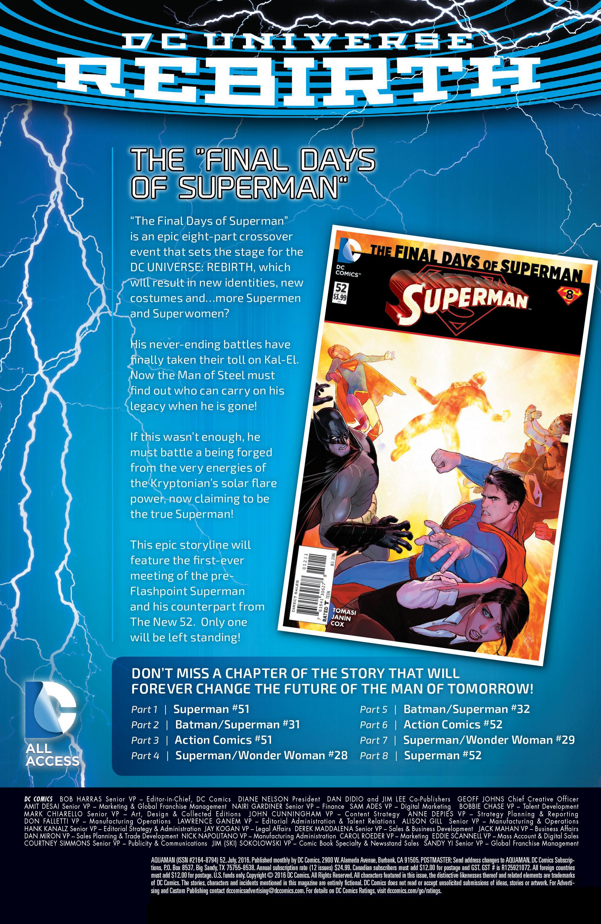Read online Aquaman (2011) comic -  Issue #52 - 29