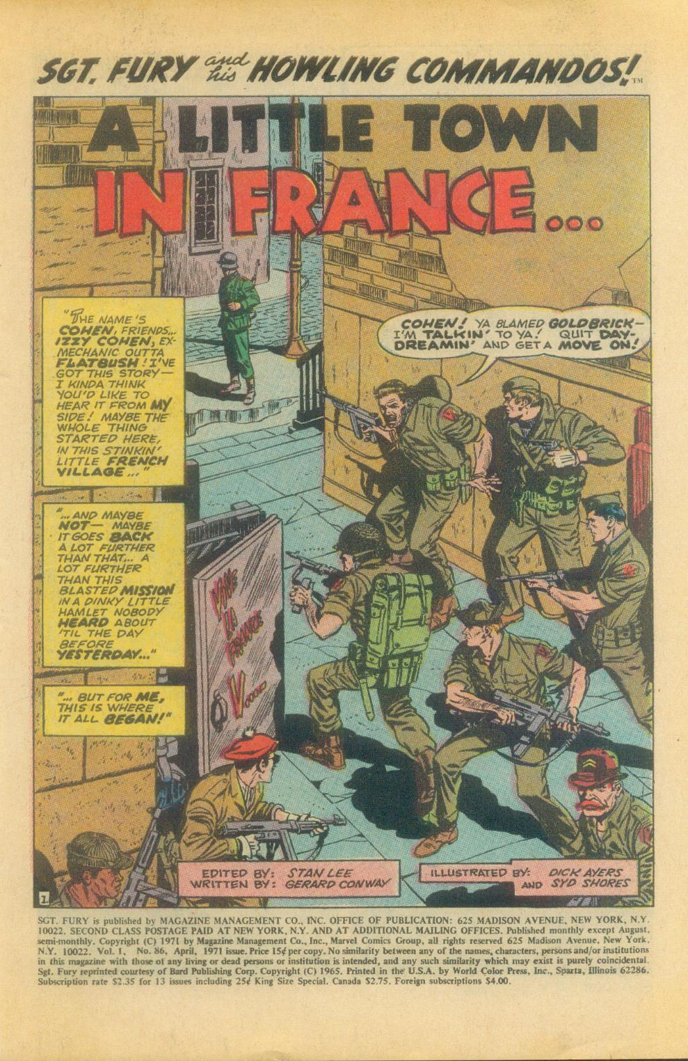 Read online Sgt. Fury comic -  Issue #86 - 3