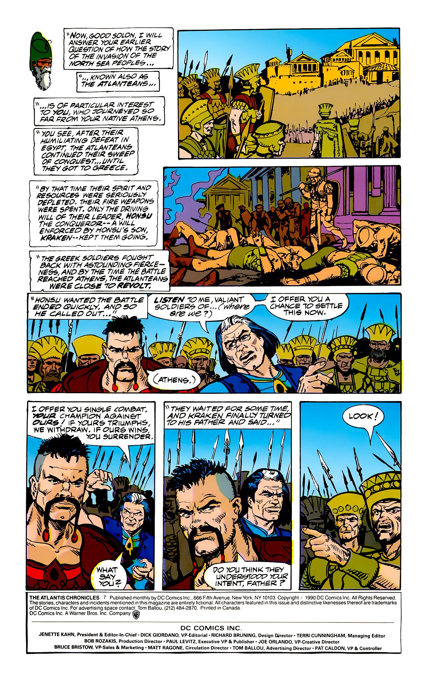 Read online Atlantis Chronicles comic -  Issue #7 - 2