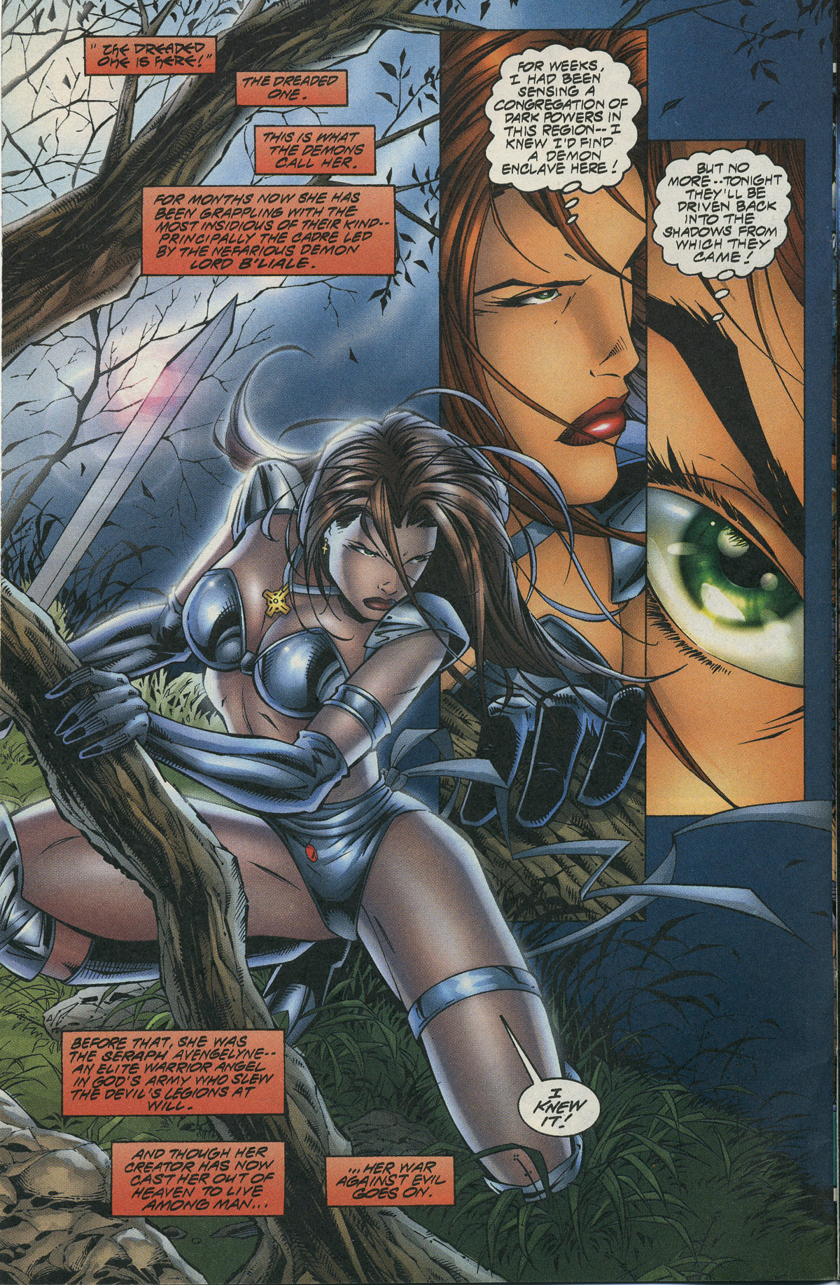 Read online Avengelyne/Warrior Nun Areala comic -  Issue # Full - 5