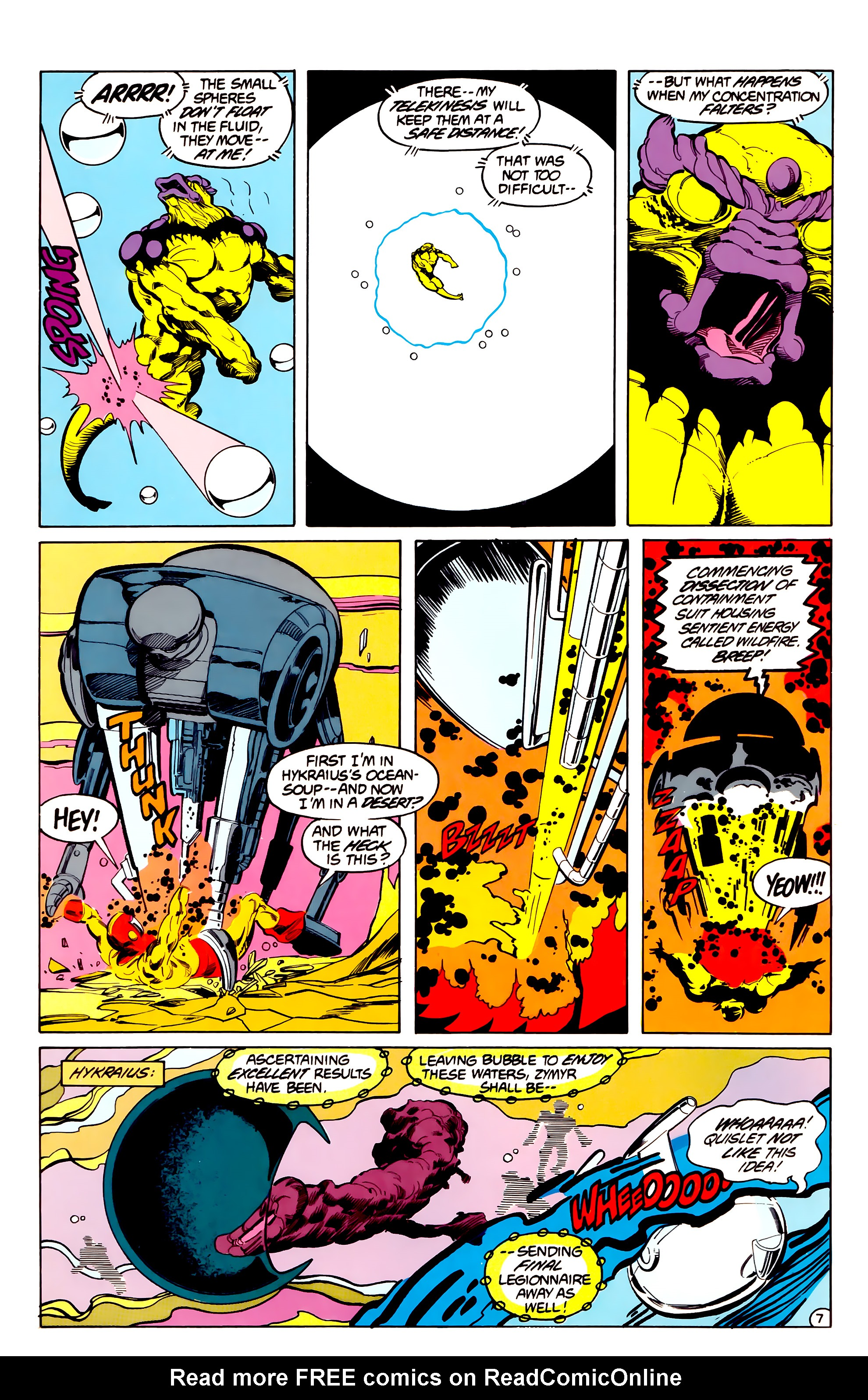 Legion of Super-Heroes (1984) 33 Page 7