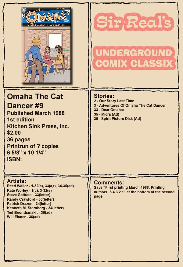 Omaha the Cat Dancer (1986) 9 Page 1