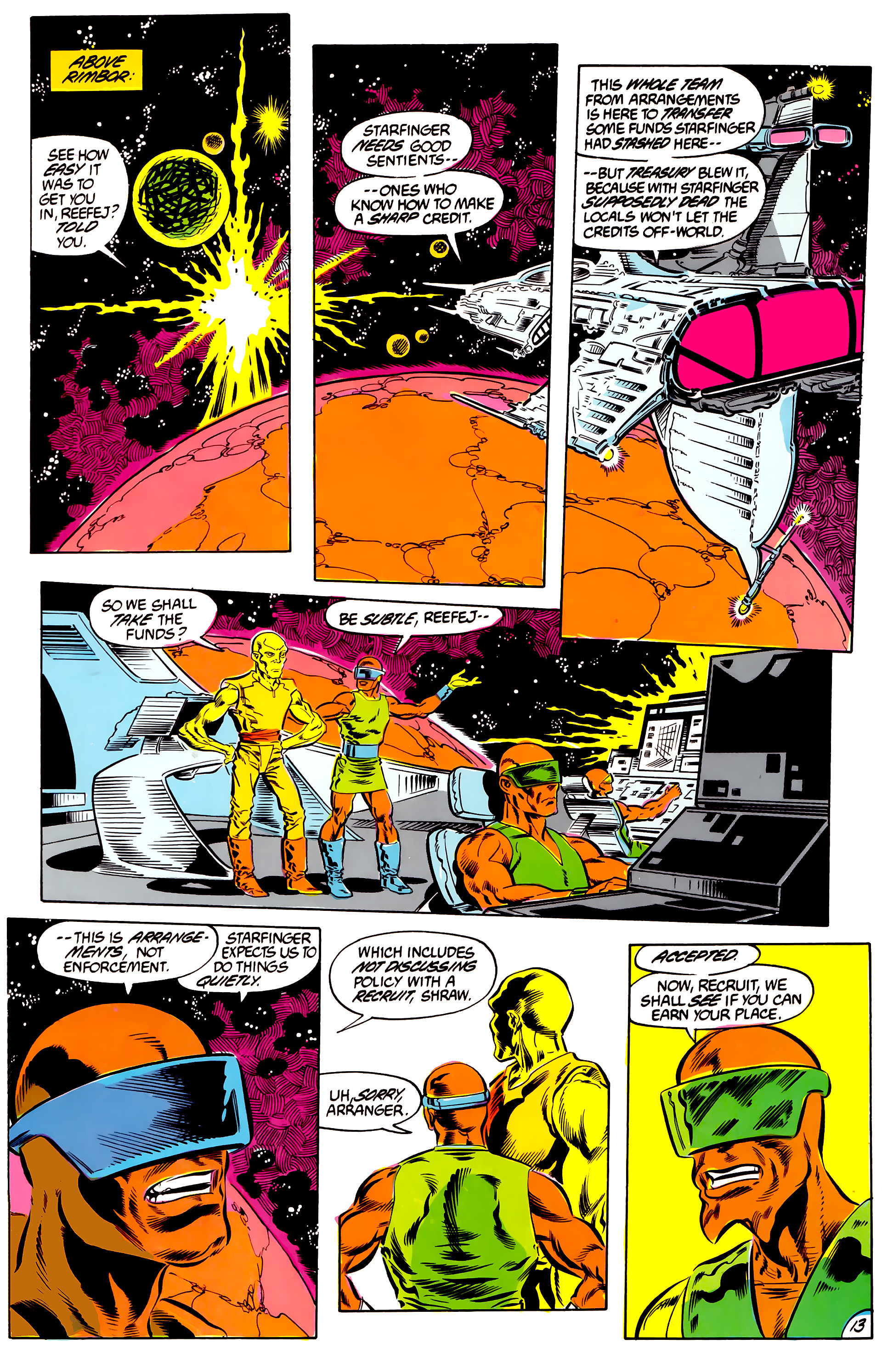 Legion of Super-Heroes (1984) 46 Page 13