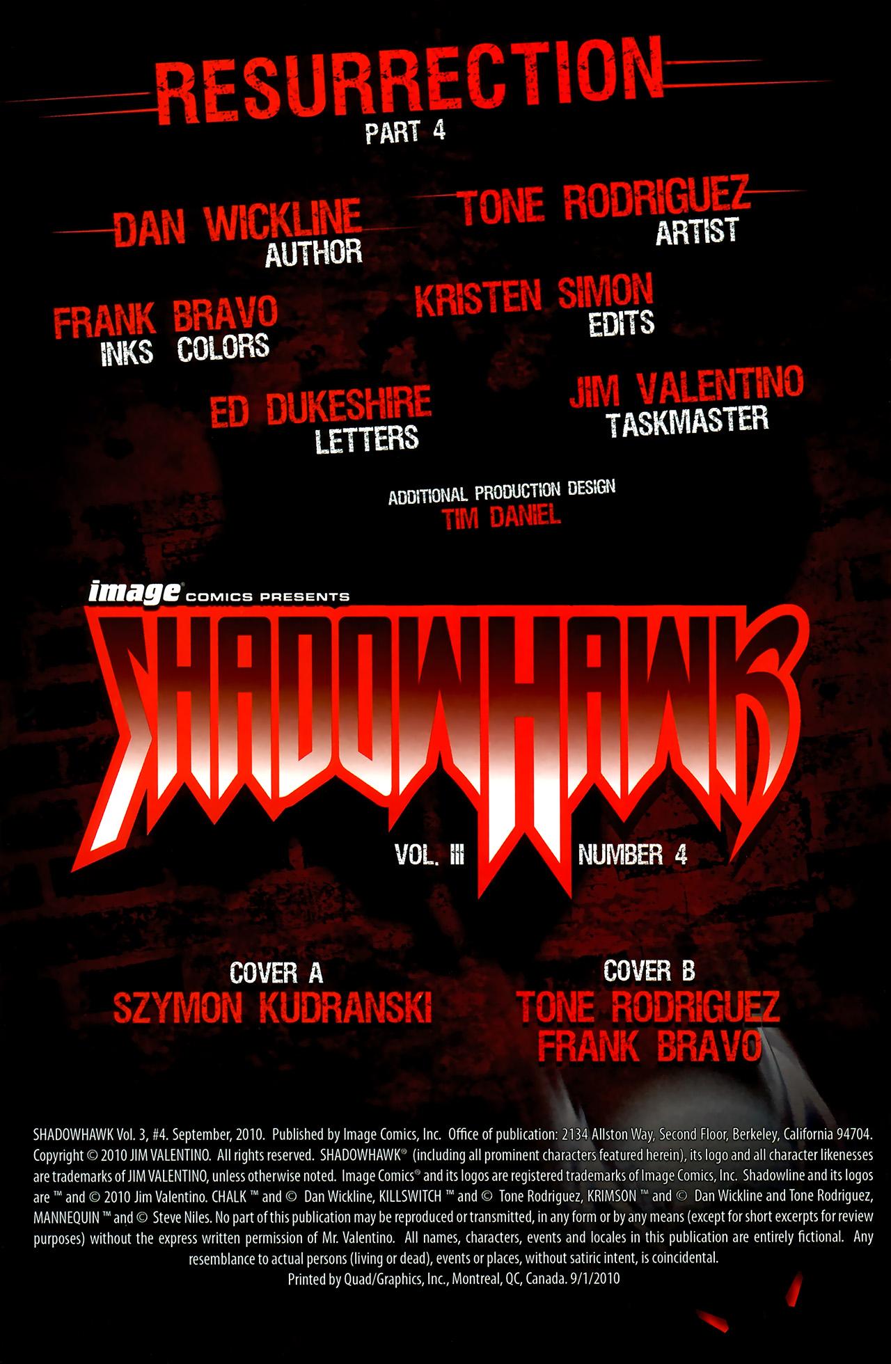 Read online ShadowHawk (2010) comic -  Issue #4 - 3