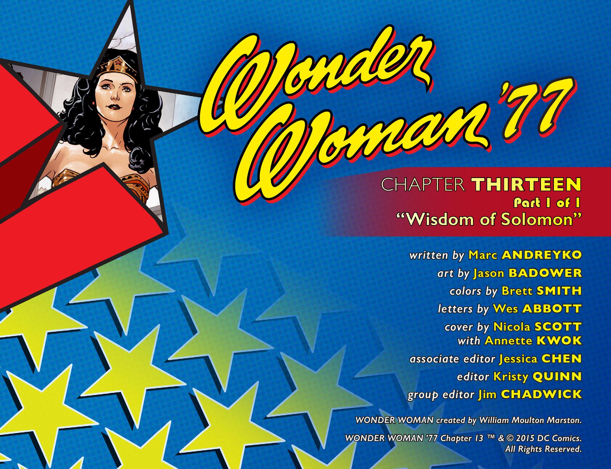 Read online Wonder Woman '77 [I] comic -  Issue #13 - 2