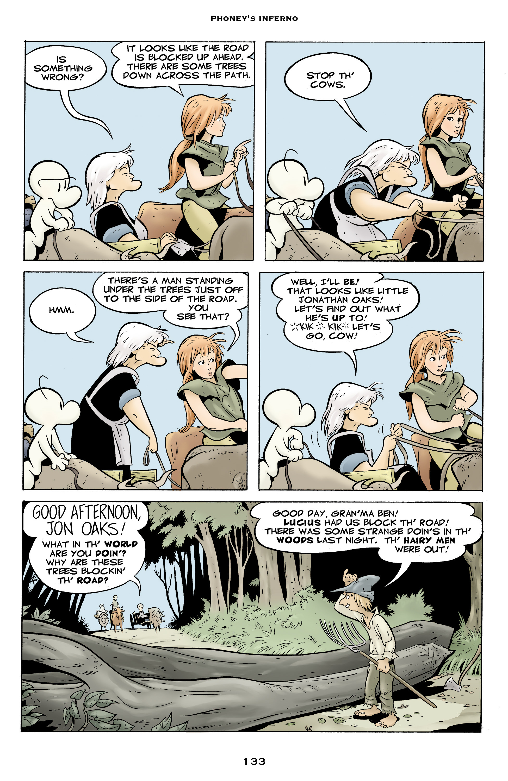 Read online Bone: Out From Boneville comic -  Issue # TPB - 133