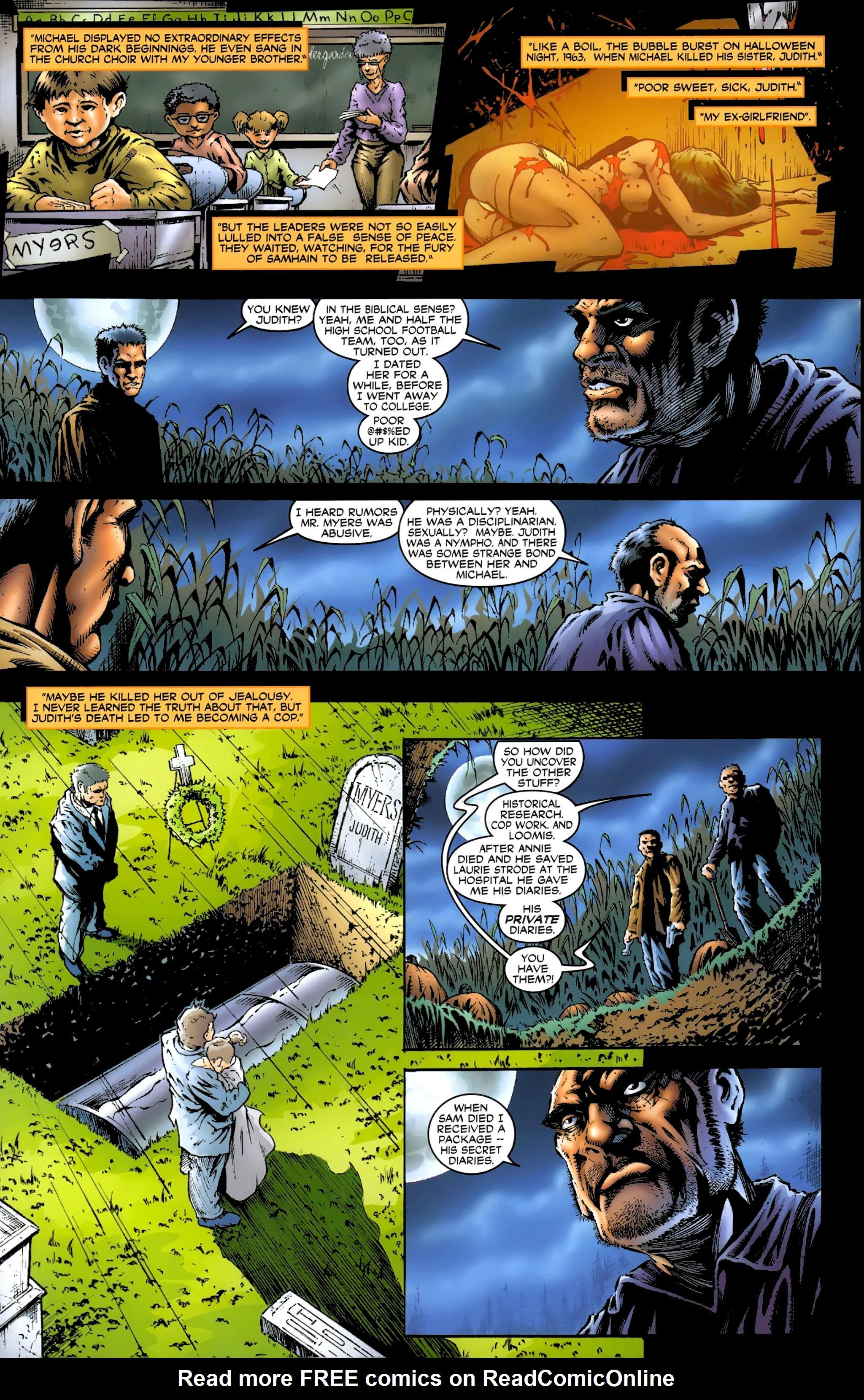 Read online Halloween II: The Blackest Eyes comic -  Issue # Full - 16