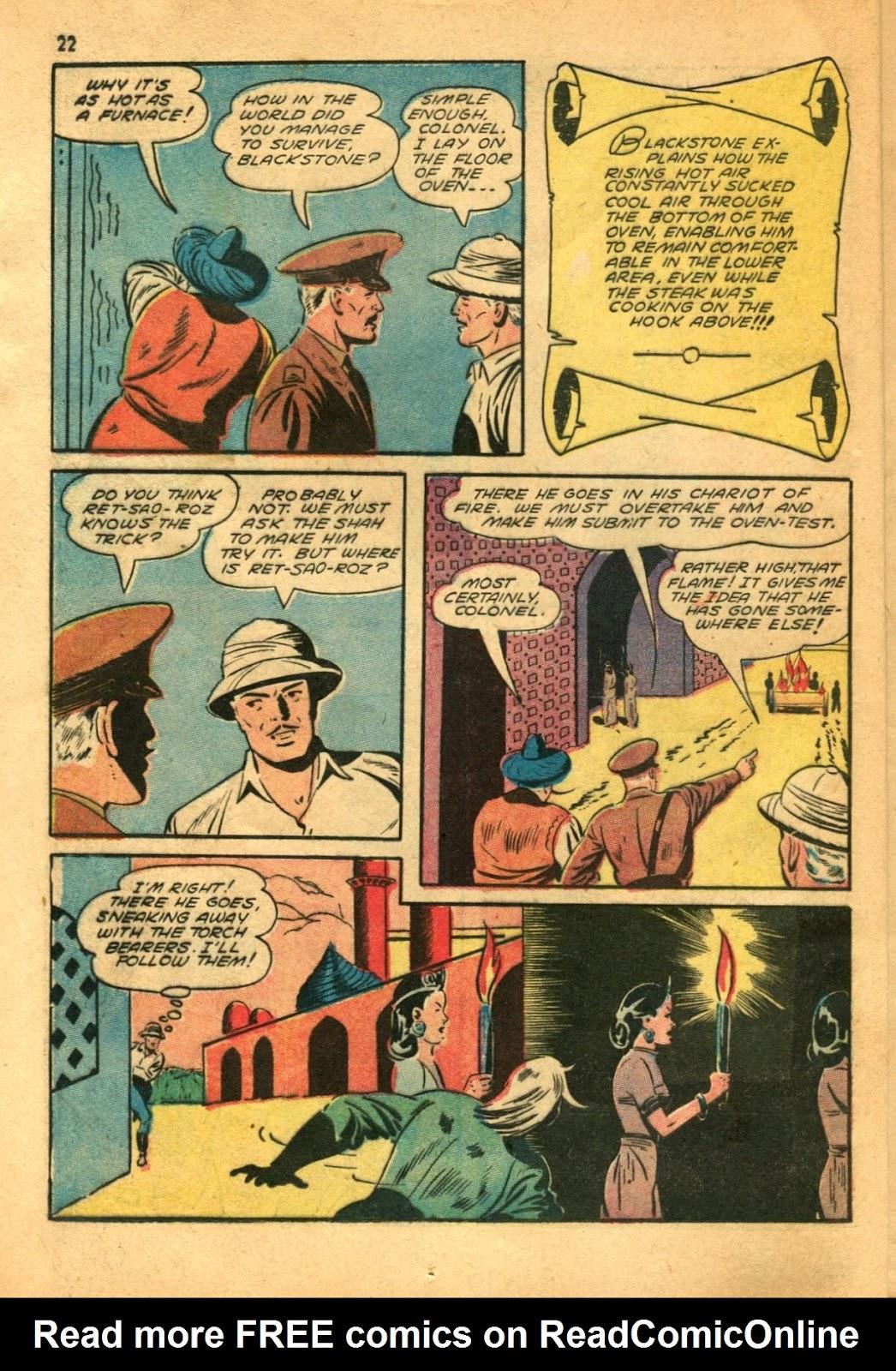 Read online Super-Magician Comics comic -  Issue #11 - 22