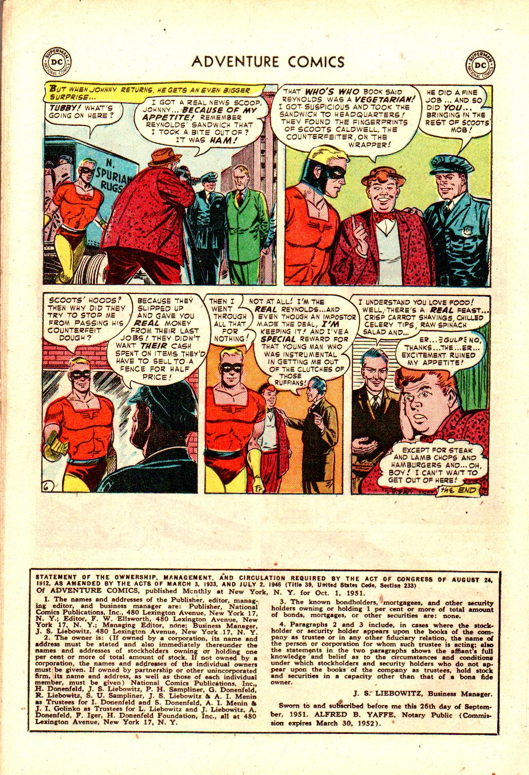 Read online Adventure Comics (1938) comic -  Issue #173 - 30