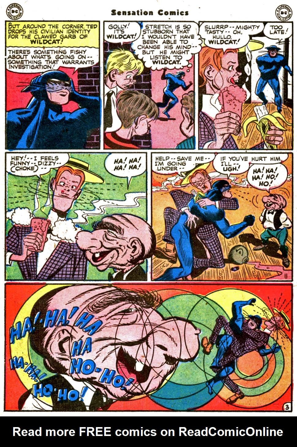 Read online Sensation (Mystery) Comics comic -  Issue #64 - 44