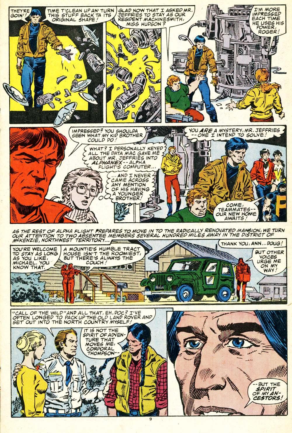 Read online Alpha Flight (1983) comic -  Issue #30 - 10