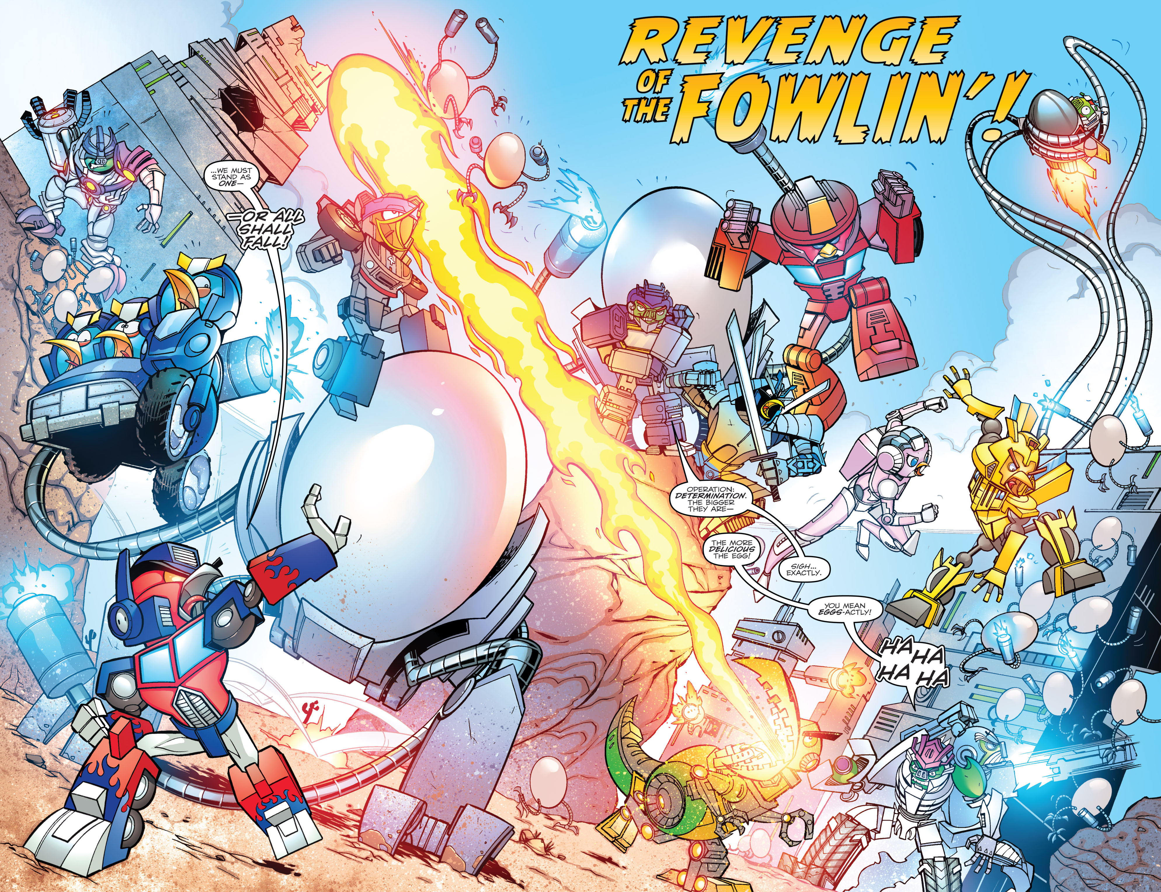Read online Angry Birds Transformers comic -  Issue #3 - 4