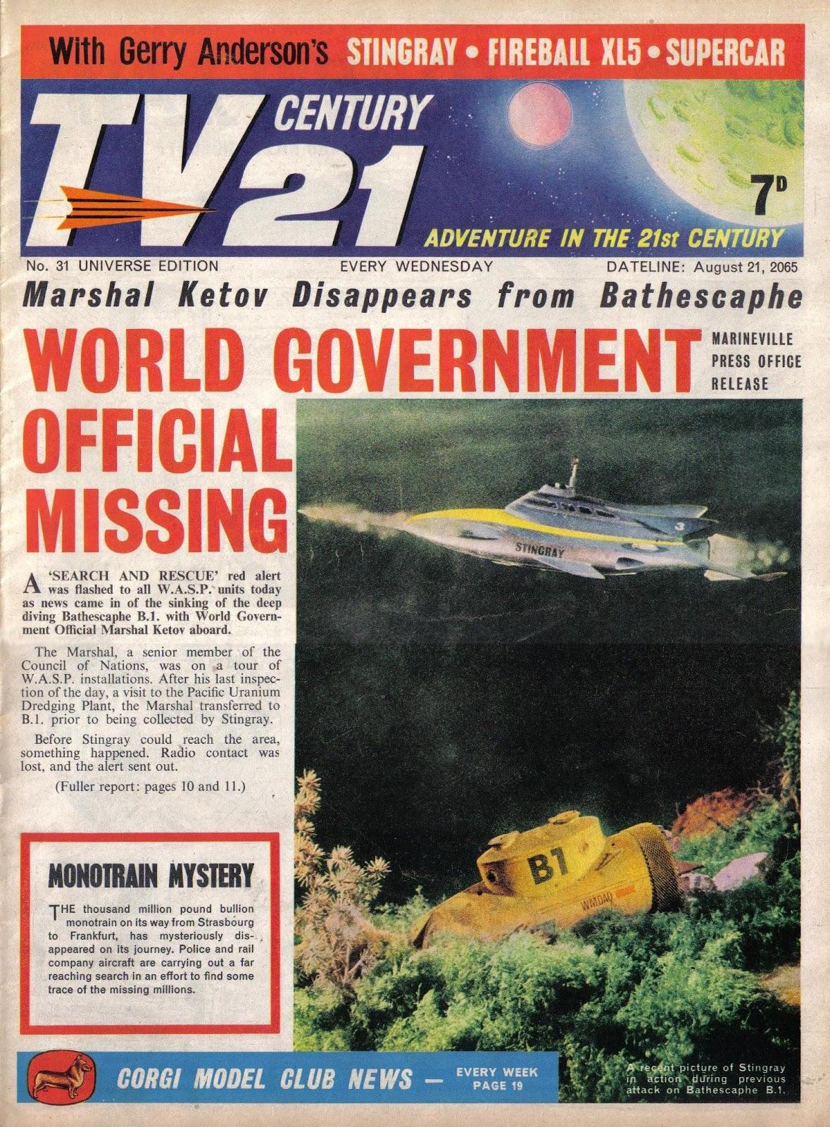 TV Century 21 (TV 21) issue 31 - Page 1