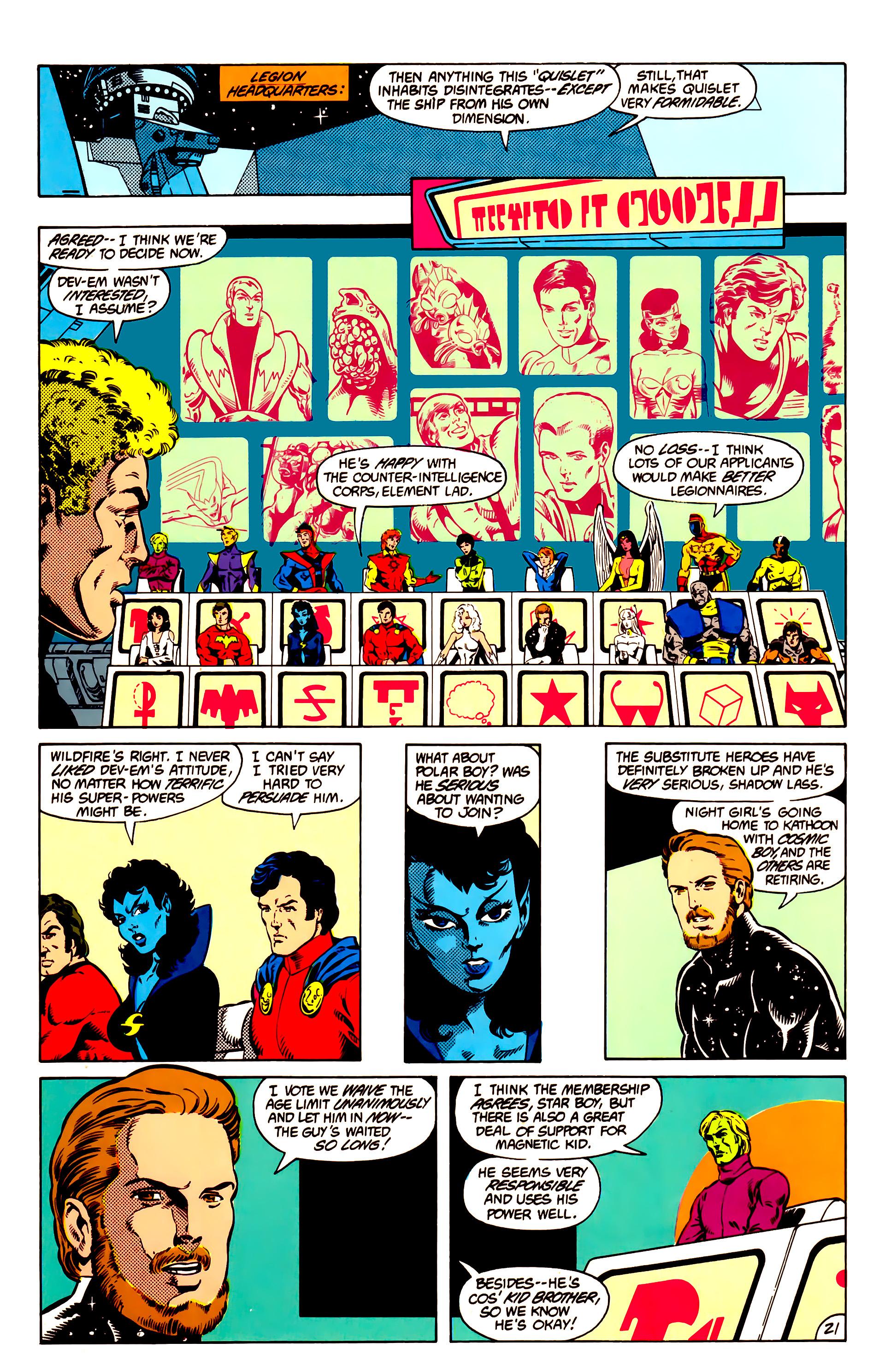 Legion of Super-Heroes (1984) 14 Page 21
