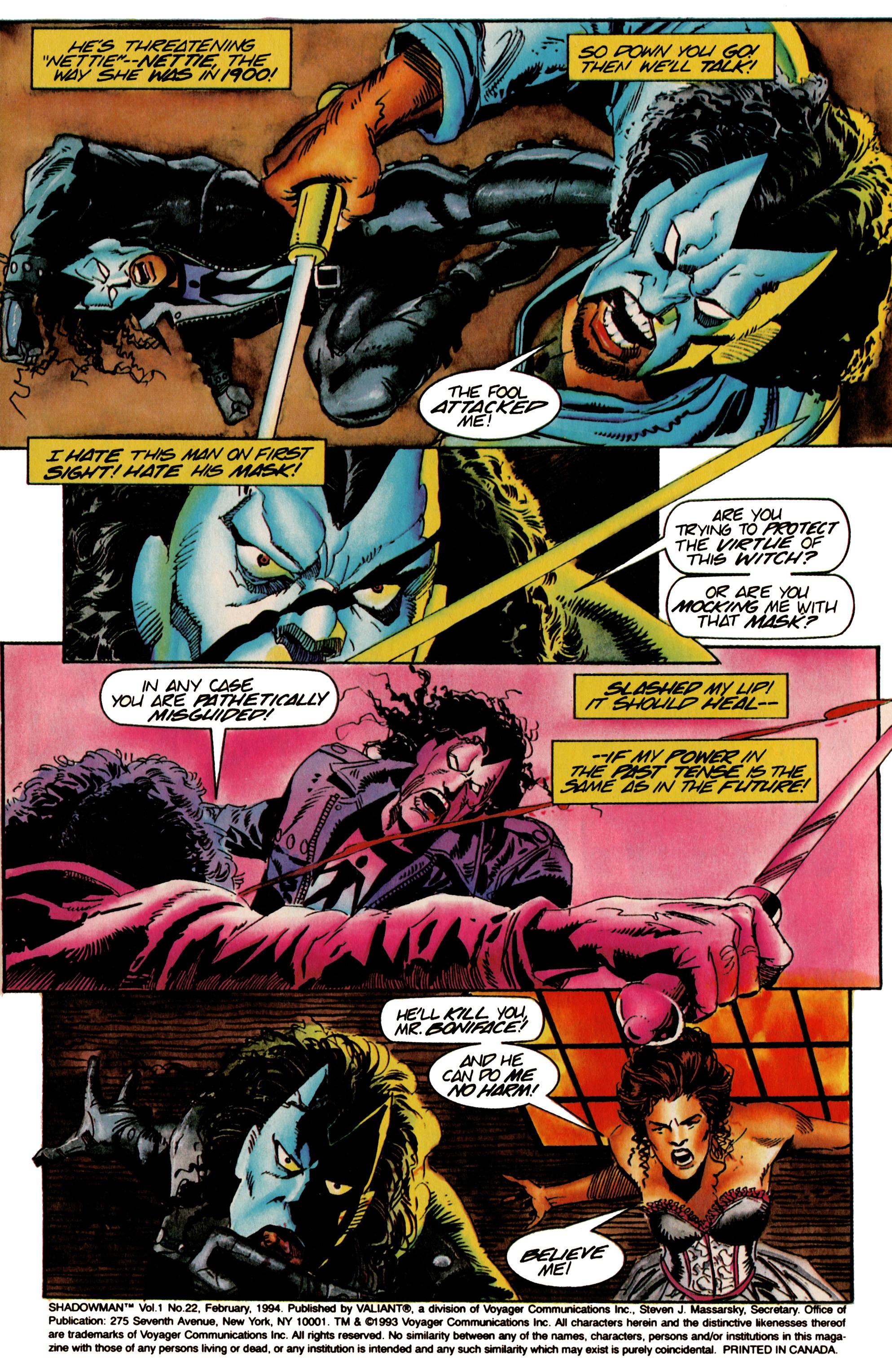 Read online Shadowman (1992) comic -  Issue #22 - 4