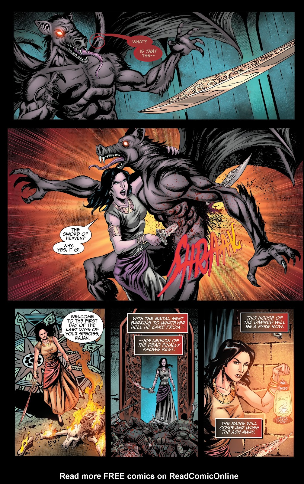 Read online Van Helsing: Sword of Heaven comic -  Issue #6 - 23