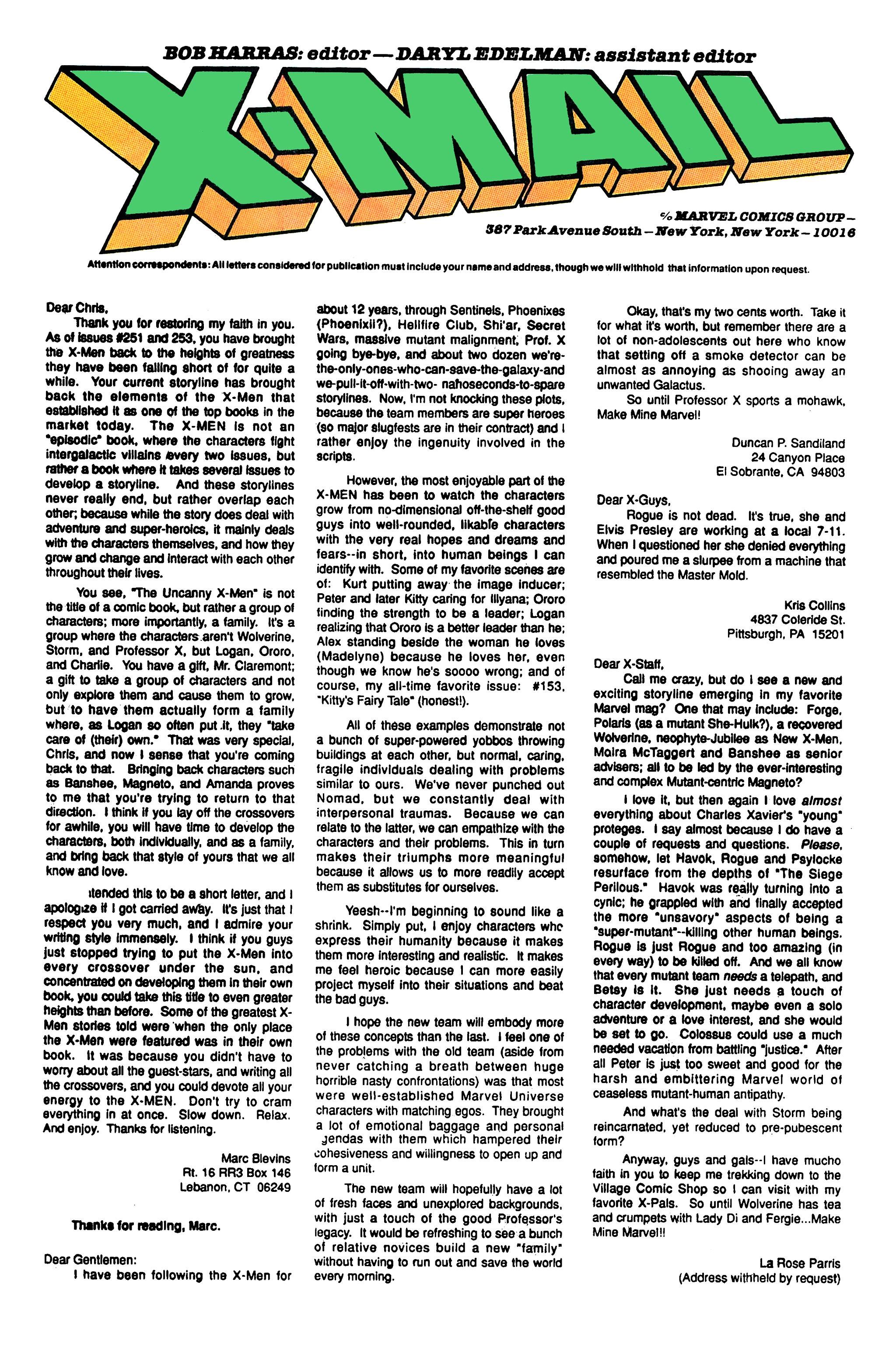 Read online Uncanny X-Men (1963) comic -  Issue #260 - 25