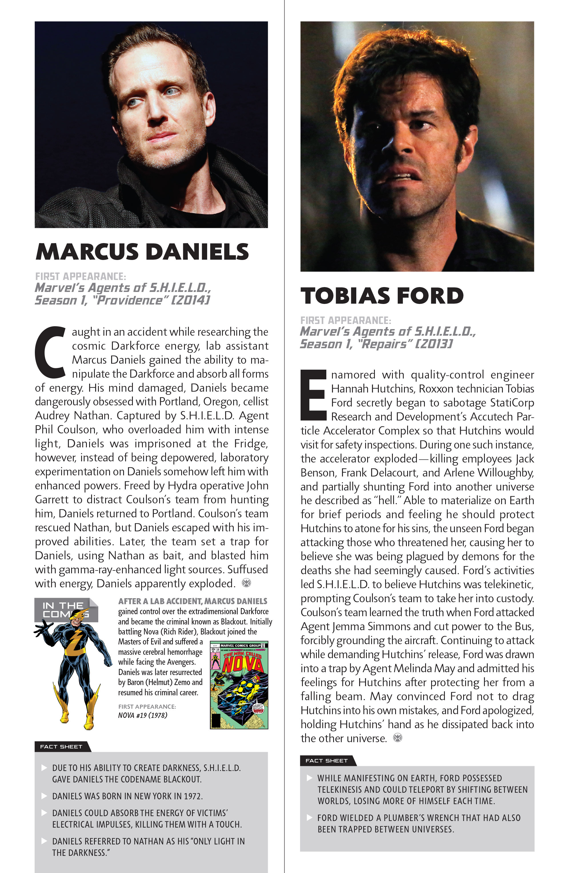 Read online Guidebook to the Marvel Cinematic Universe - Marvel's Agents of S.H.I.E.L.D. Season One comic -  Issue # Full - 16