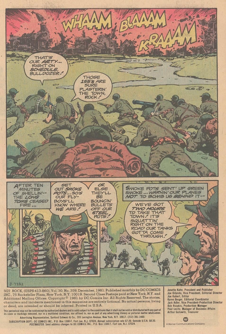 Read online Sgt. Rock comic -  Issue #359 - 2