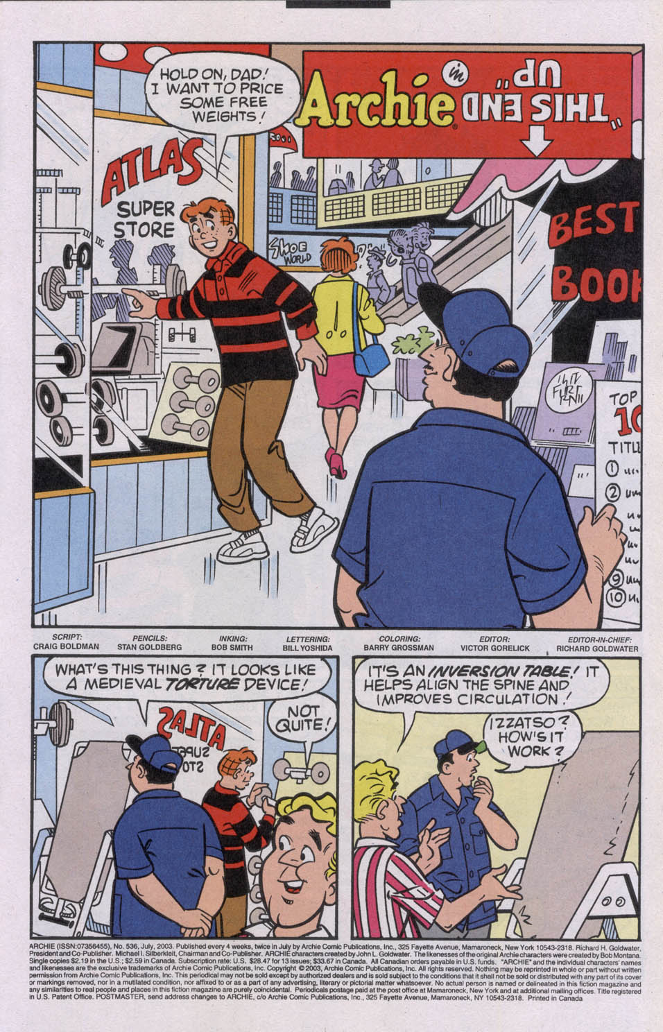 Read online Archie (1960) comic -  Issue #536 - 3