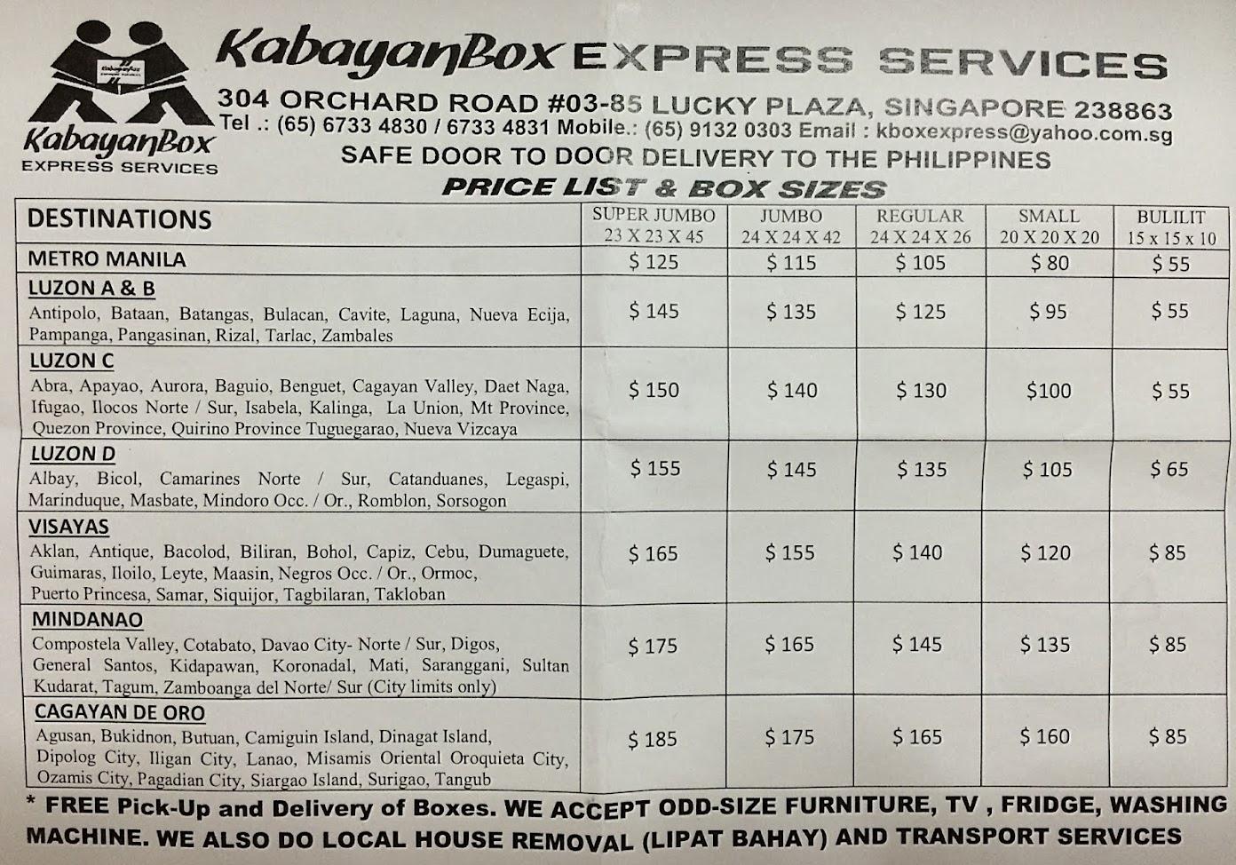 kabayan express service